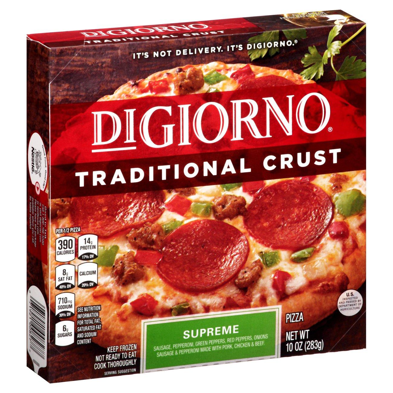Digiorno Pizza Digiorno Traditional Crust Supreme Pizza ‑ Shop Single Serve At Heb