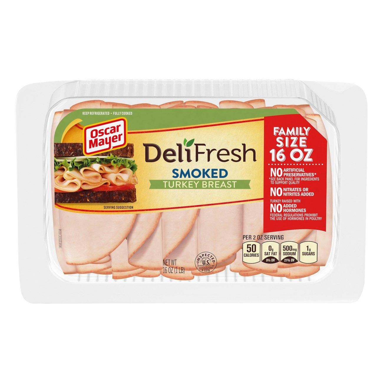 Oscar Mayer Deli Fresh Smoked Turkey Breast Shop Meat At H E B