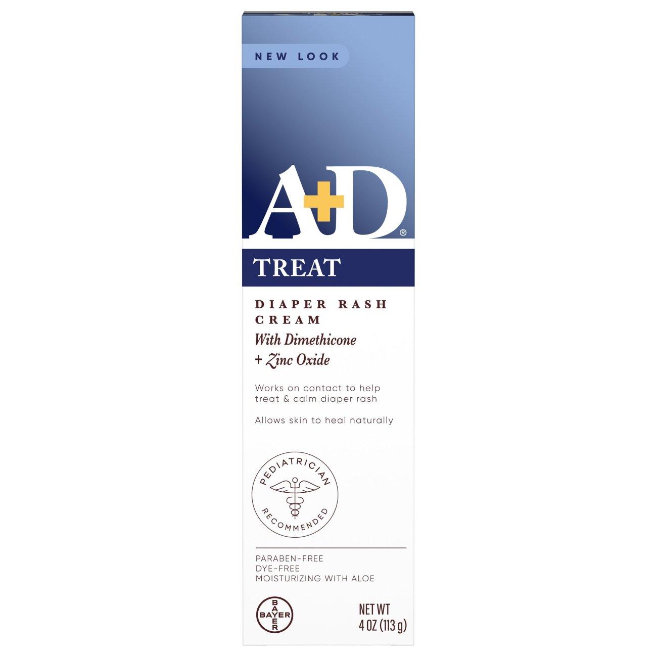 A+D A & D Zinc Oxide Diaper Rash Cream - Shop Lotion & Powder at H-E-B