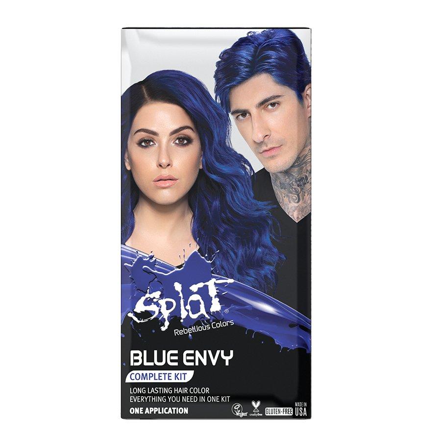Splat Blue Envy Complete Hair Color Kit Shop Hair Color At H E B