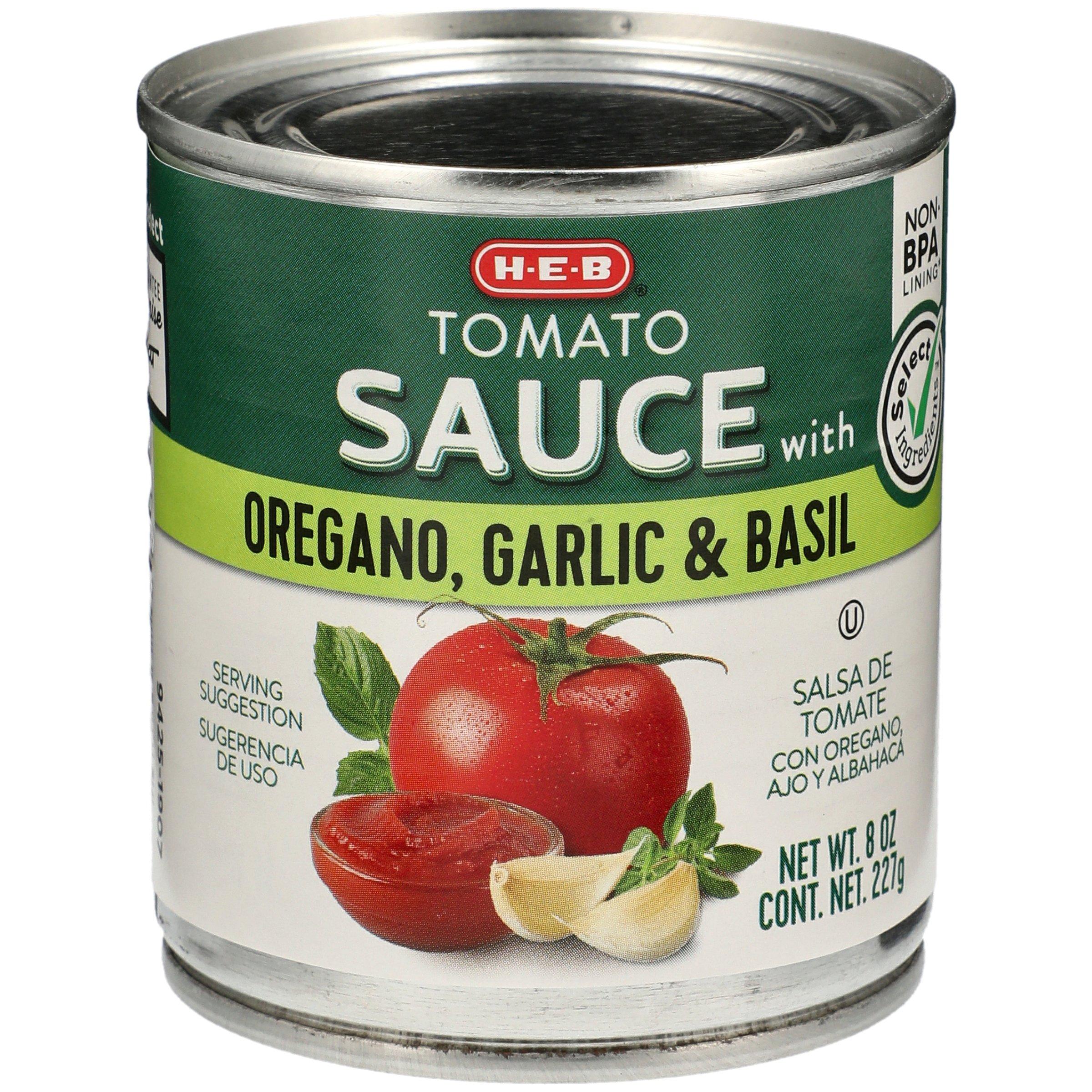 H‑E‑B Select Ingredients Tomato Sauce with Oregano Garlic and Basil ...