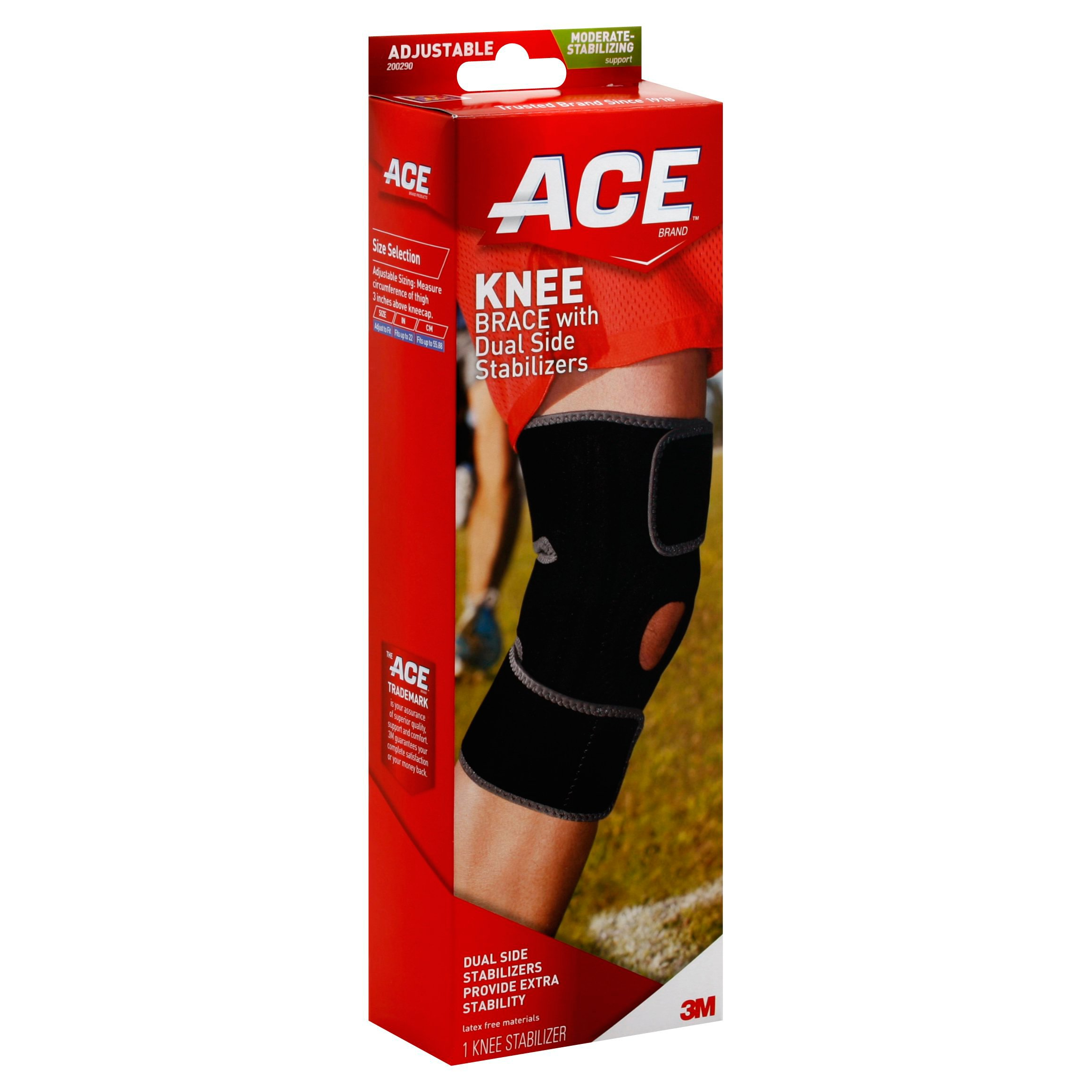 Ace Adjustable Knee Brace With Dural Side Stabilizers Shop