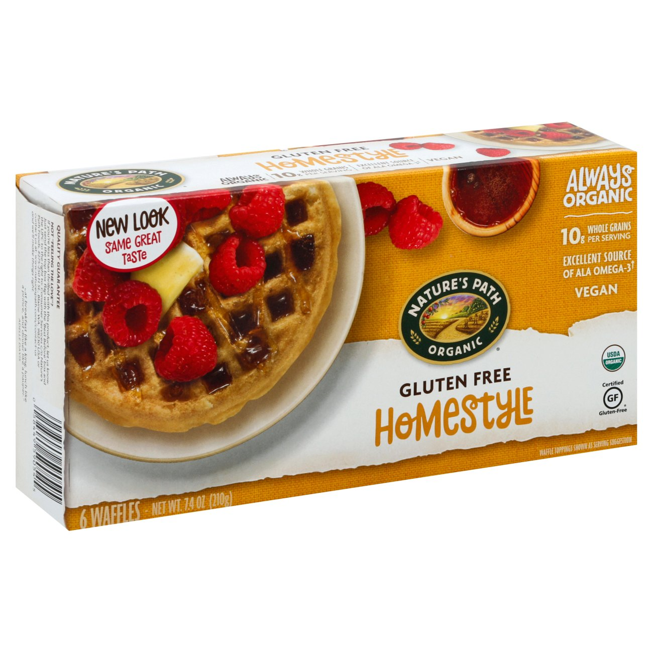 Nature S Path Organic Home Style Gluten Free Waffles Shop Entrees Sides At H E B Earned the land of the free (level 35) badge! nature s path organic home style gluten free waffles
