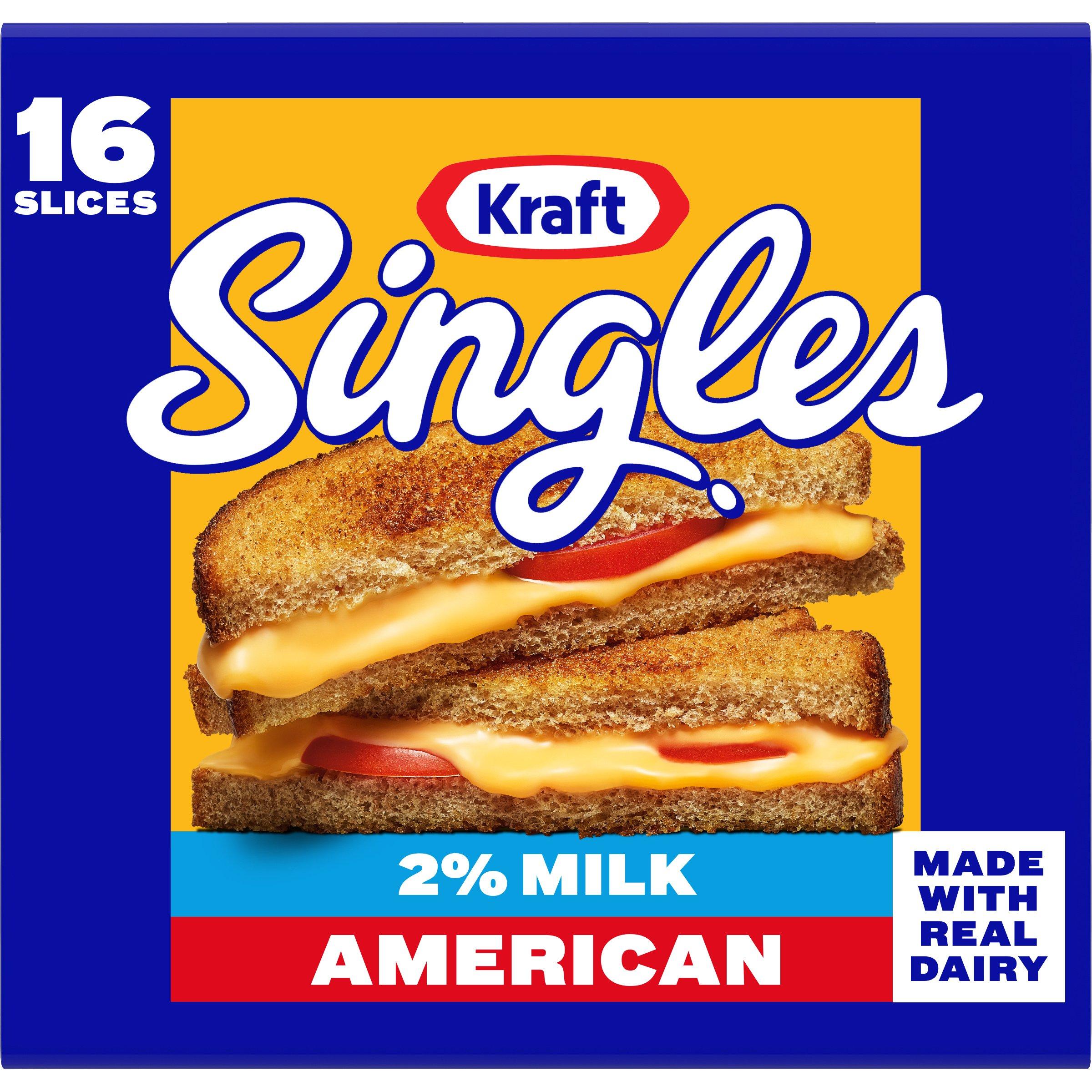 Kraft Singles Reduced Fat 2% Milk