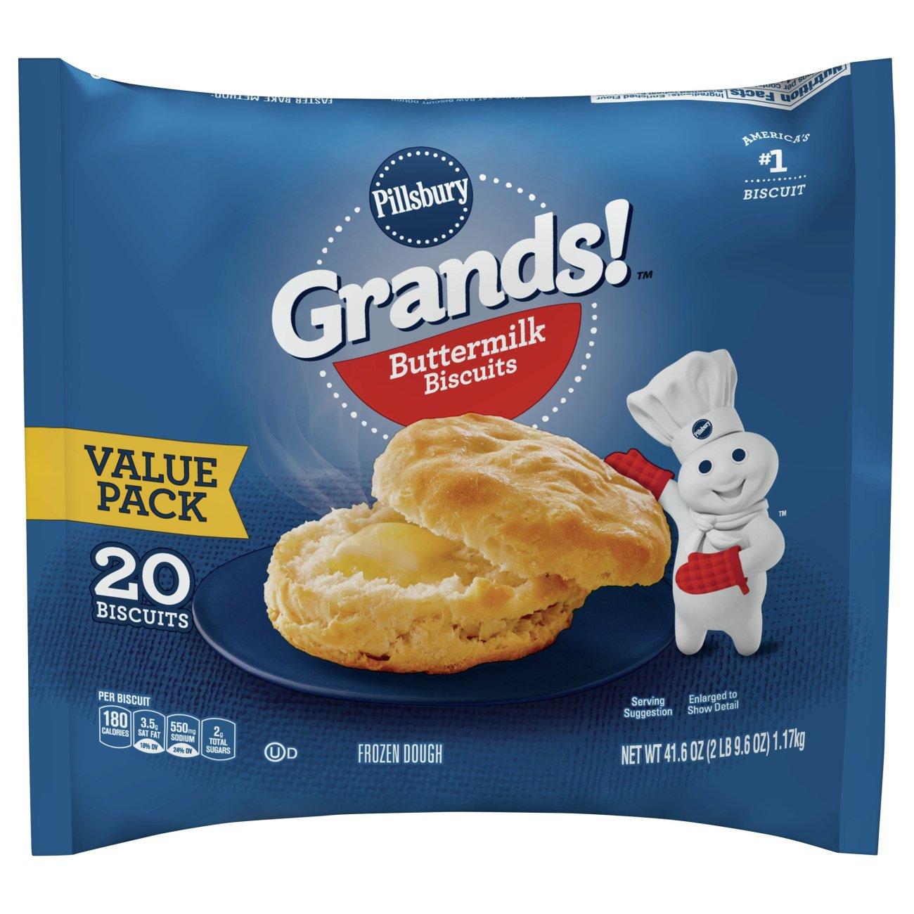 Pillsbury Grands Buttermilk Biscuits Shop Biscuits At Heb