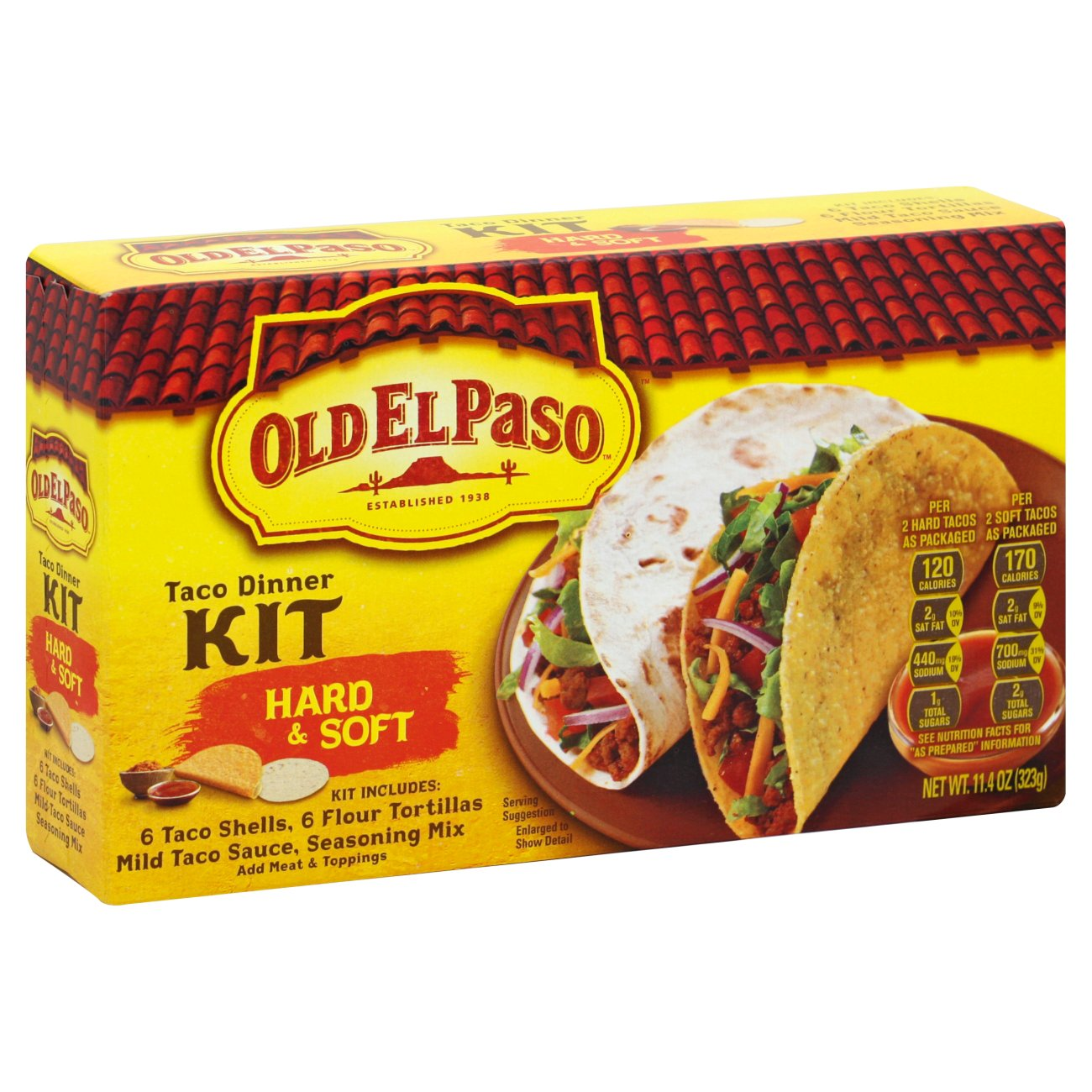 Old El Paso Hard Soft Taco Dinner Kit Shop Tortillas At H E B