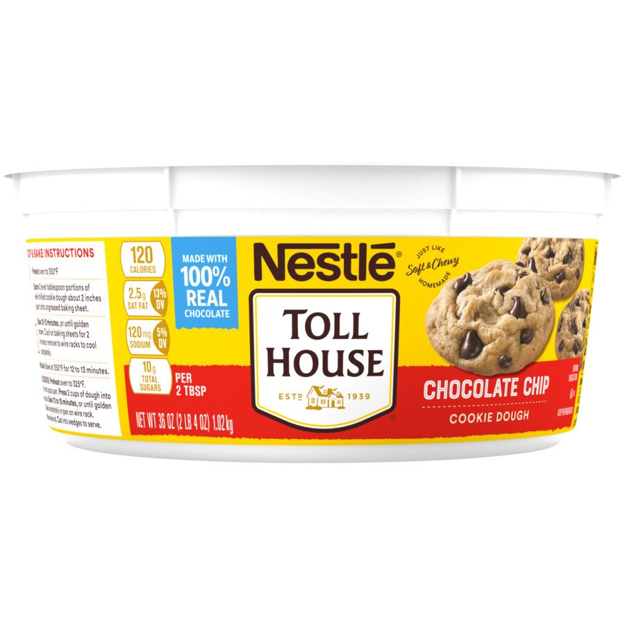 nestle toll house chocolate chip cookie dough ‑ shop cookie dough