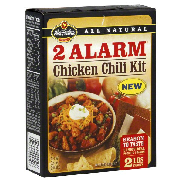 Wick Fowler S 2 Alarm Chicken Chili Kit Shop Spice Mixes At H E B