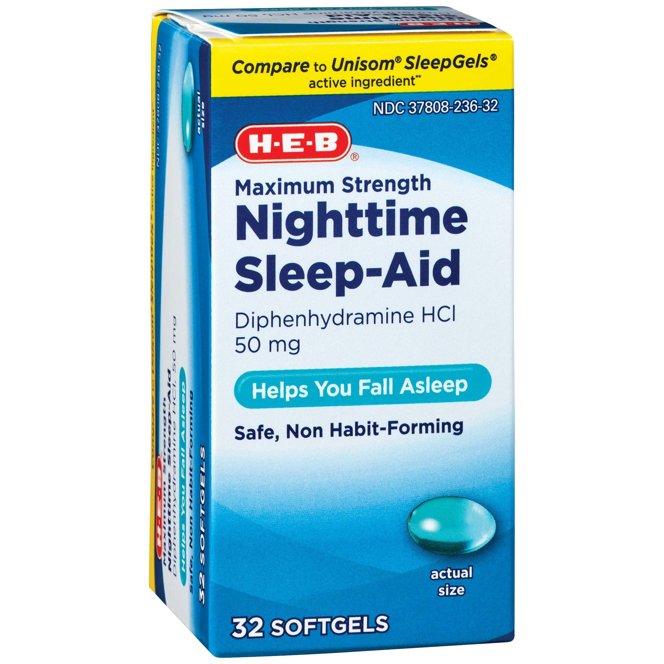 h u2011e u2011b sleep aid maximum strength nighttime sleep u2011aid softgels