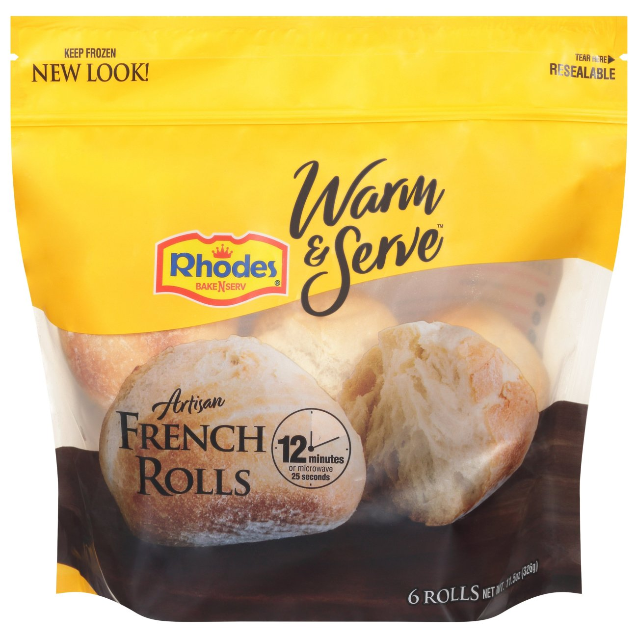 Rhodes Bake N Serv Artisan French Rolls Shop Bread At H E B