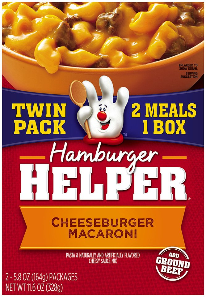 Hamburger Helper Classic Cheeseburger Macaroni Twin Pack Shop Pantry Meals At H E B