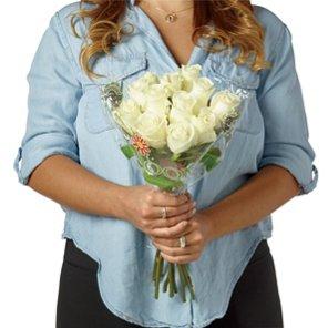 heb blooms dozen white roses shop roses at heb - White Garden Rose