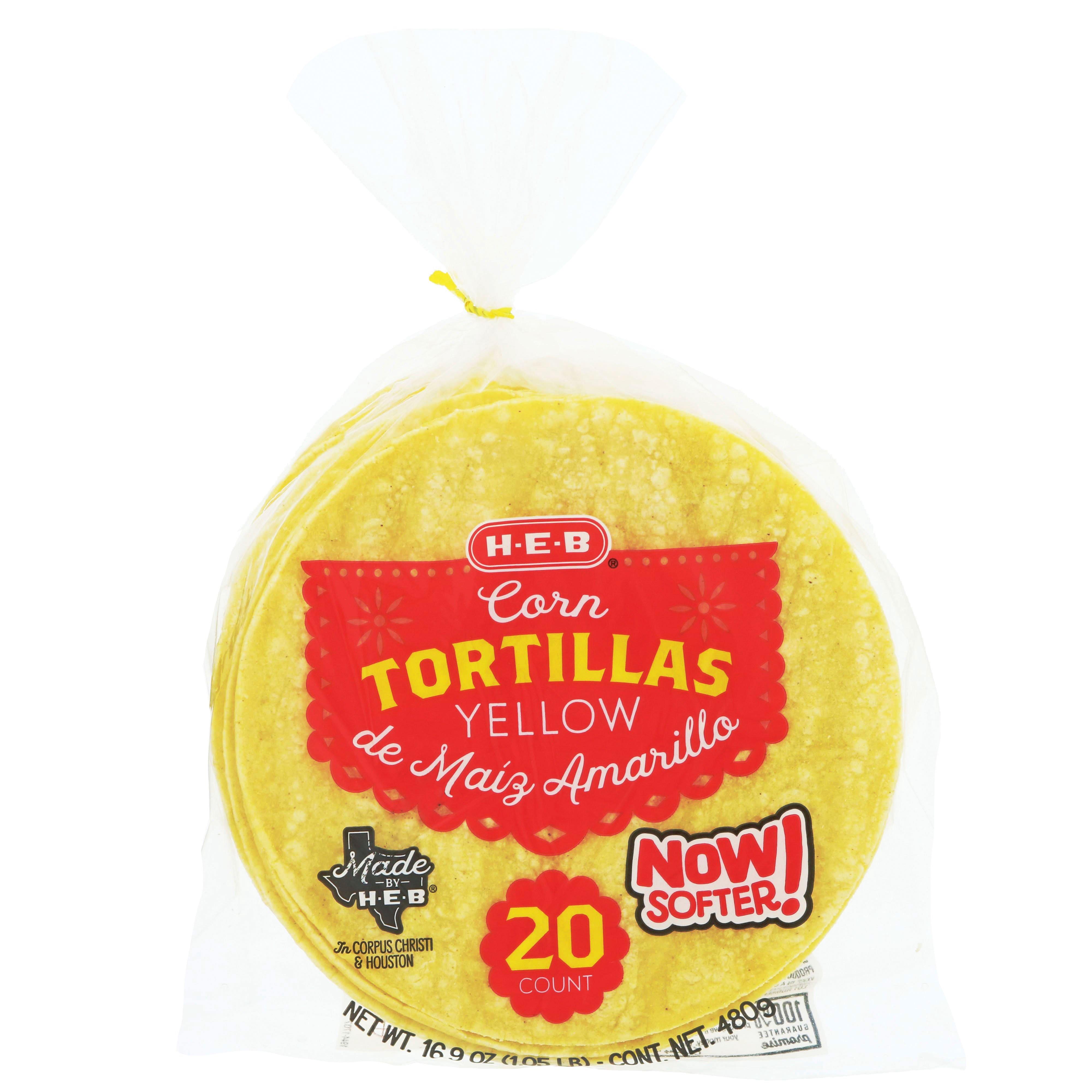 H E B Yellow Corn Tortillas Shop Tortillas At H E B