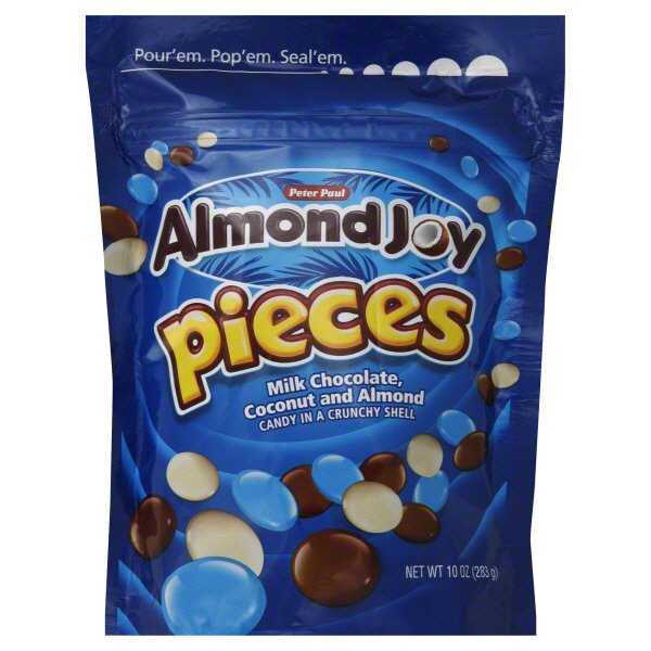 Almond Joy Pieces Milk Chocolate Coconut And Almond Candy