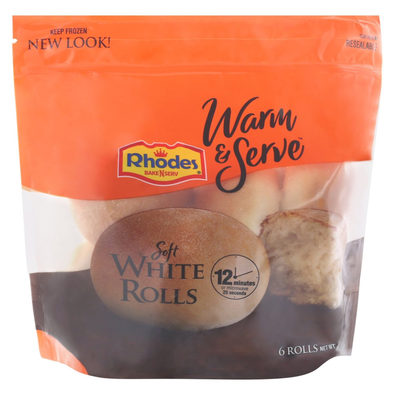 Rhodes Bake N Serv Soft White Rolls Shop Bread At H E B