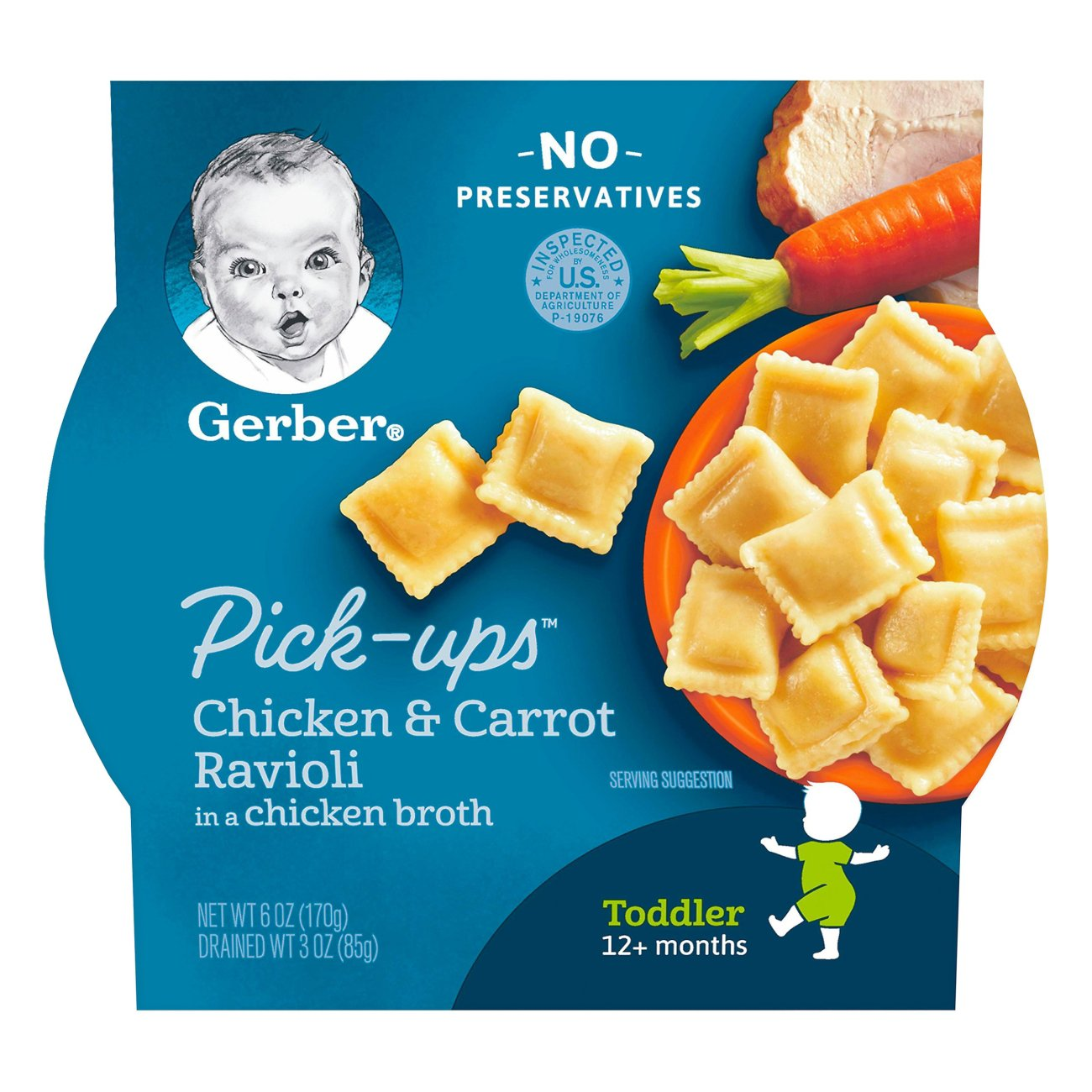 Gerber Pick Ups Chicken Carrot Ravioli In A Chicken Broth Shop Toddler Food At H E B