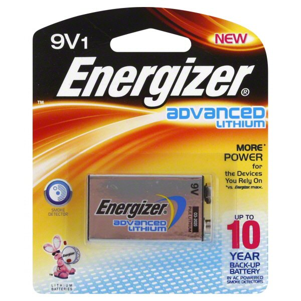 Energizer Advanced Lithium 9v Battery Shop Batteries At H E B