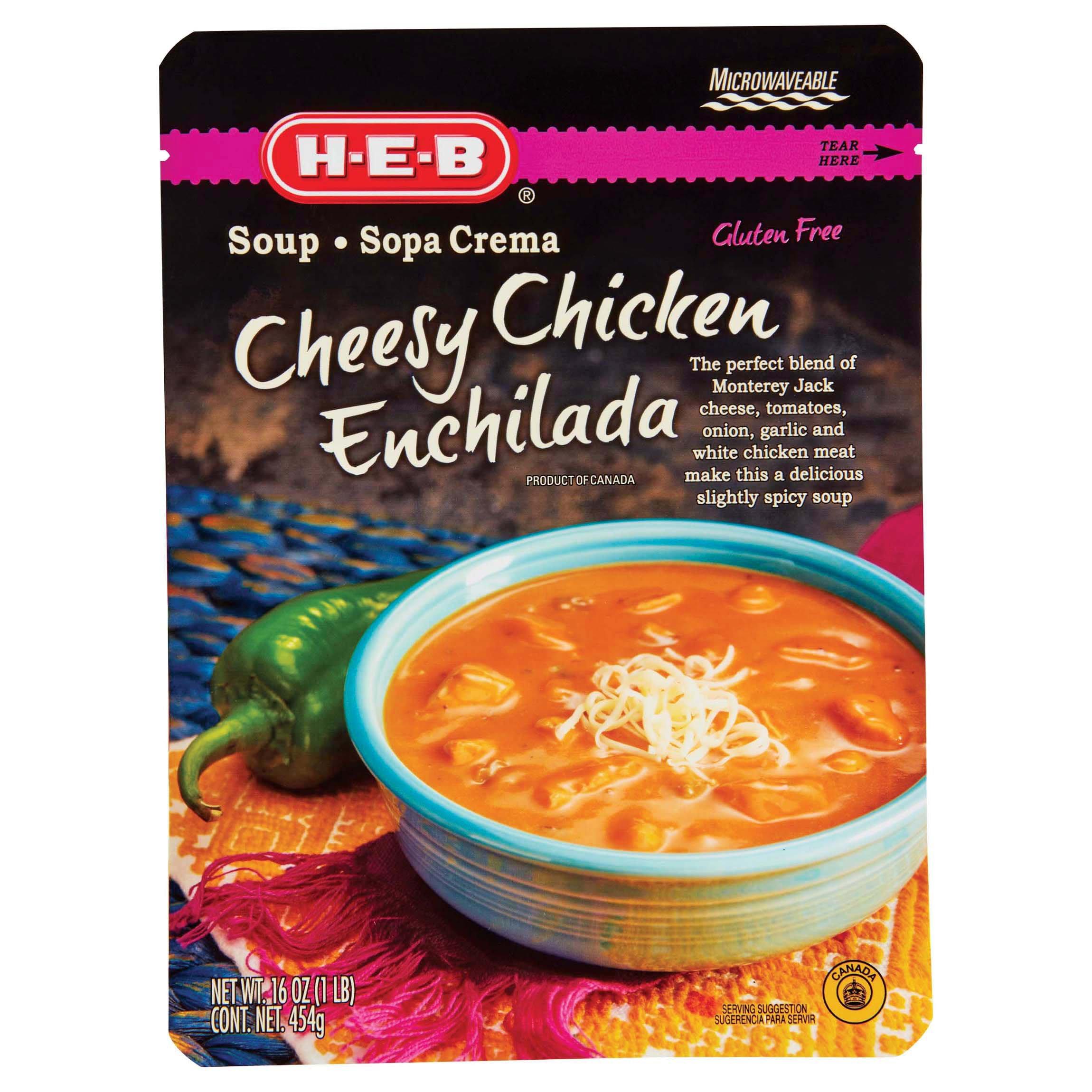 H E B Cheesy Chicken Enchilada Soup Shop Soups Chili At H E B