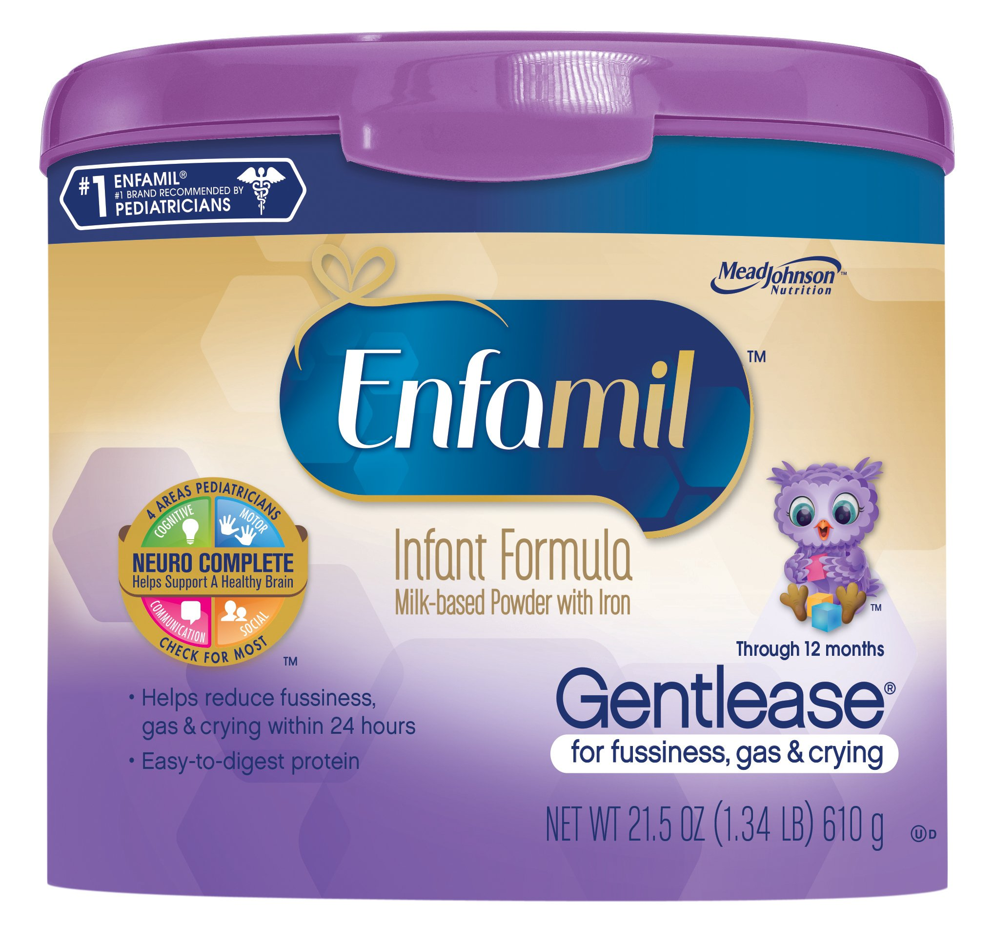 Enfamil Gentlease Infant Formula For Fussiness Gas Crying Powder
