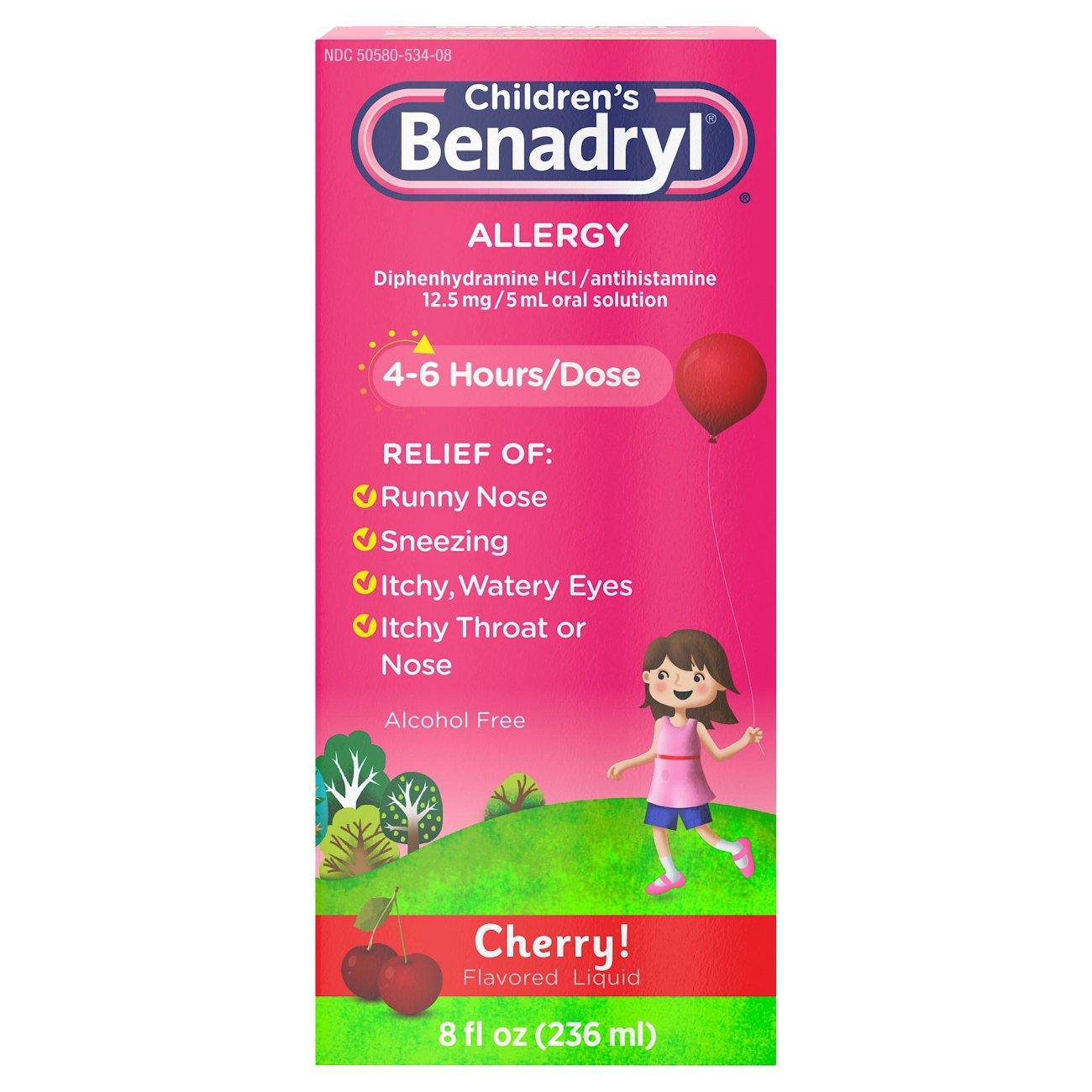 Benadryl childrens allergy cherry flavored liquid shop kids benadryl childrens allergy cherry flavored liquid shop kids allergy at heb geenschuldenfo Choice Image