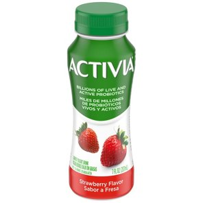 Yogurt · Dannon Activia Strawberry Flavored Dairy Drink. Use + and - keys to zoom in and out, arrow keys move the zoomed portion of the image