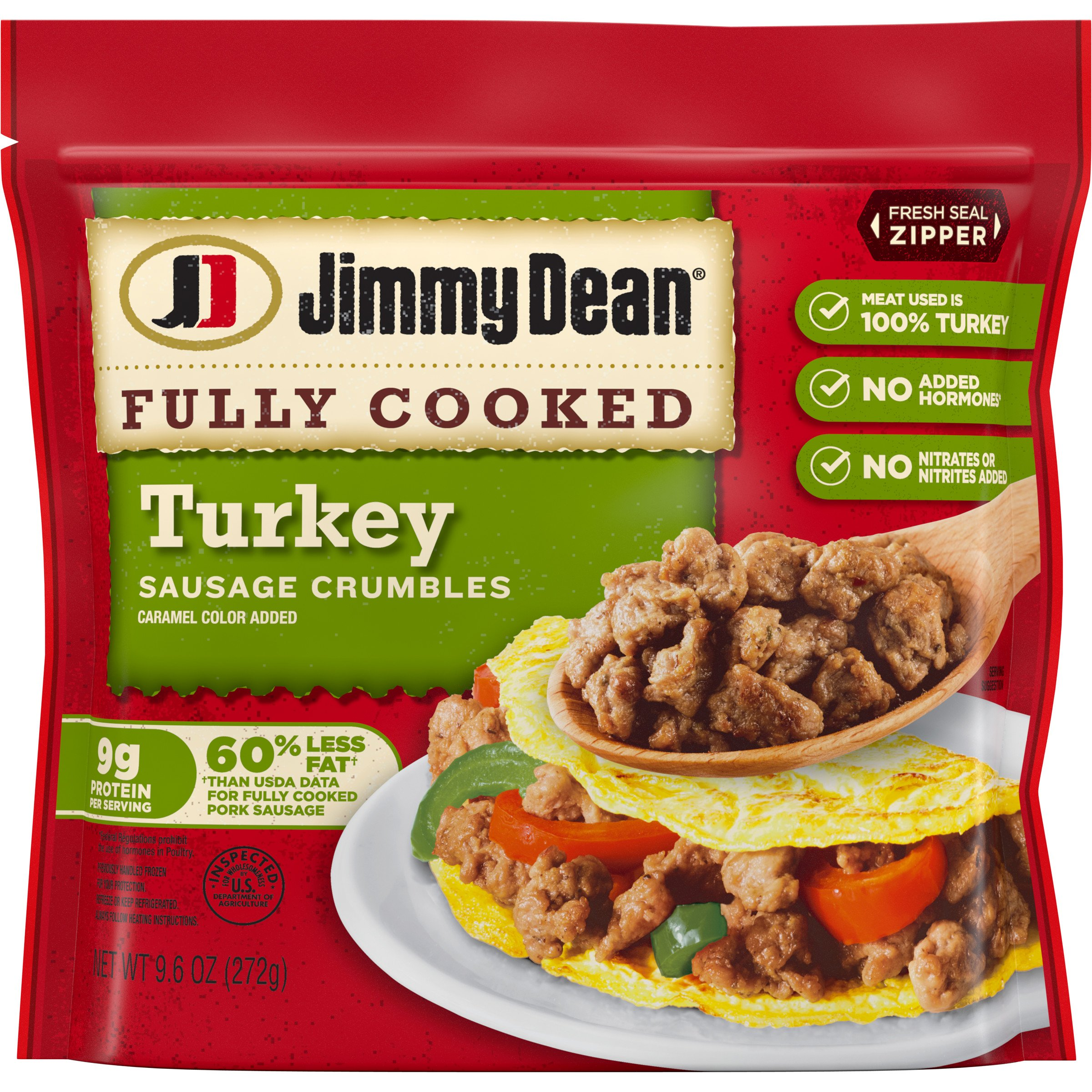 Jimmy Dean Fully Cooked Turkey Sausage Crumbles ‑ Shop Sausage at H‑E‑B