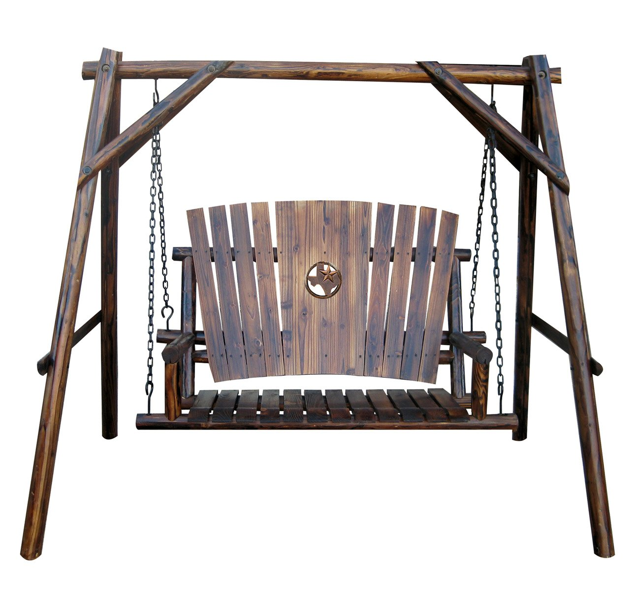 Char Log 4 Foot A Frame Swing With Texas Map Medallion   Shop Furniture At  HEB