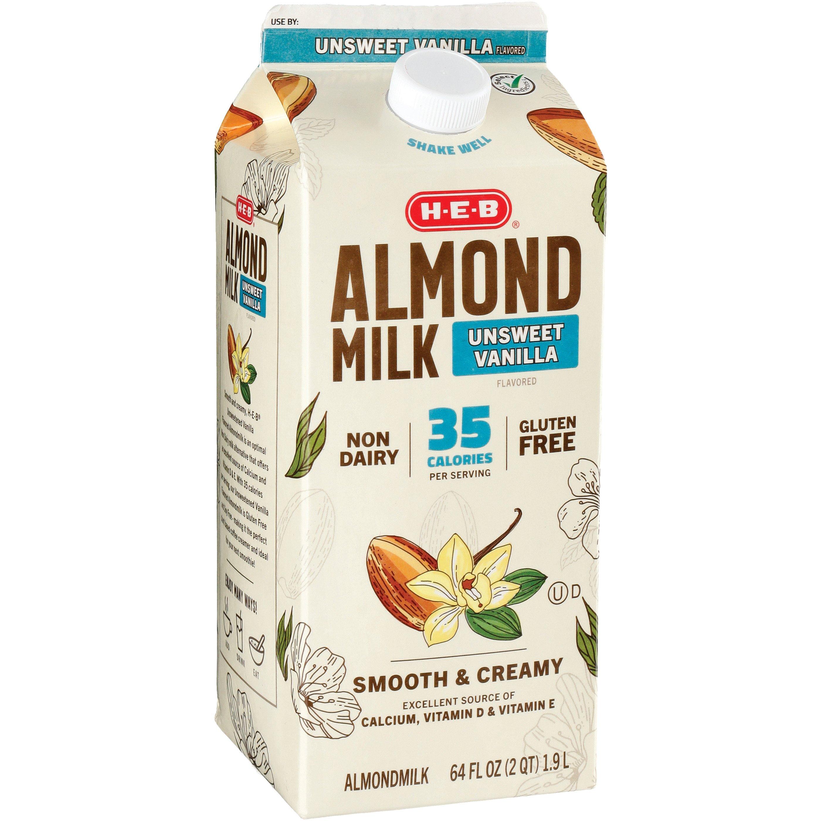 H-E-B Unsweetened Vanilla Almond Milk