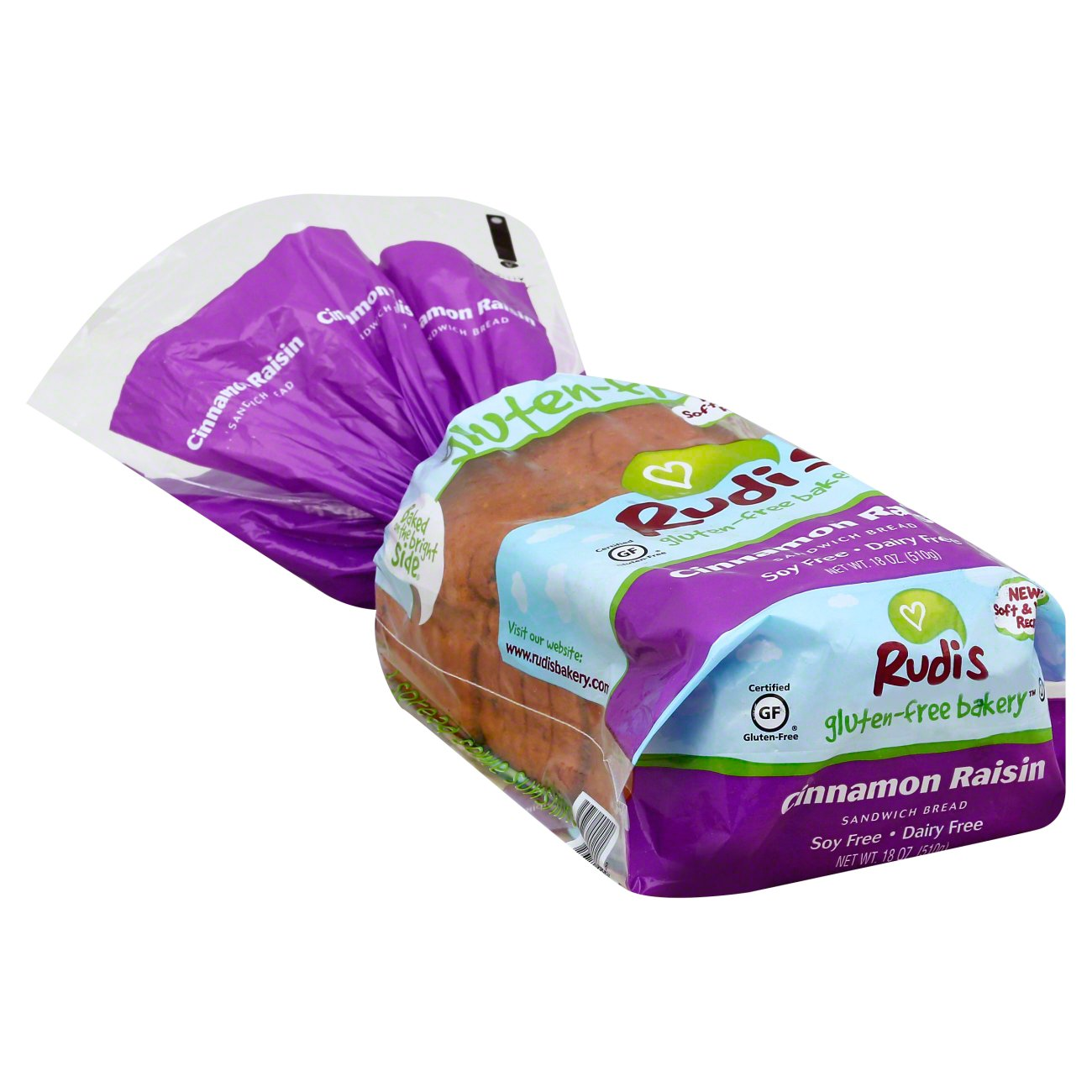 Rudi S Gluten Free Bakery Cinnamon Raisin Sandwich Bread Shop Bread At H E B
