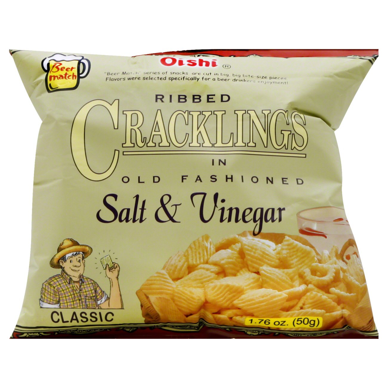 Oishi Classic Ribbed Cracklings In Old Fashioned Salt And Vinegar Shop Chips At H E B,How To Defrost A Turkey Breast