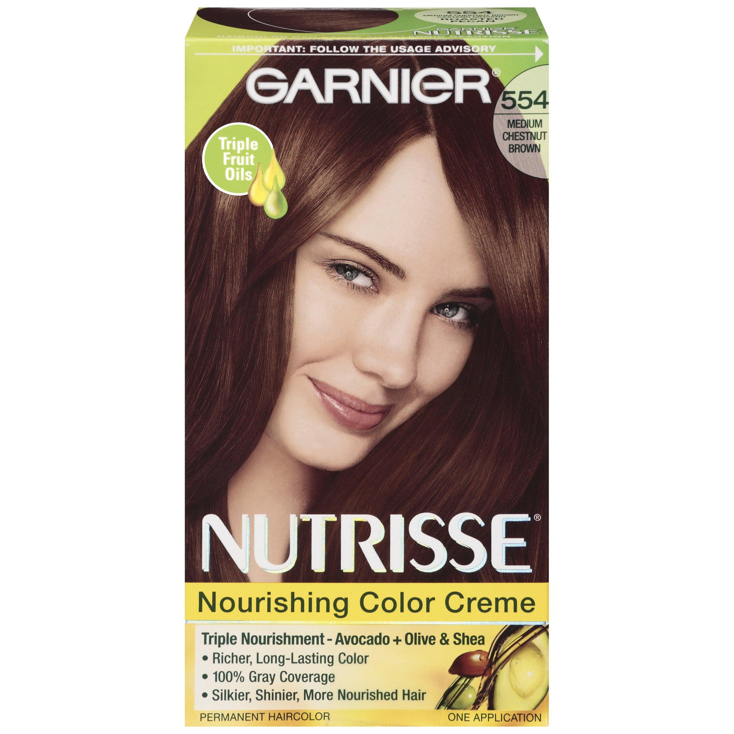 Garnier Nutrisse Hair Color 554 Chestnut Brown Roasted Pecan Shop