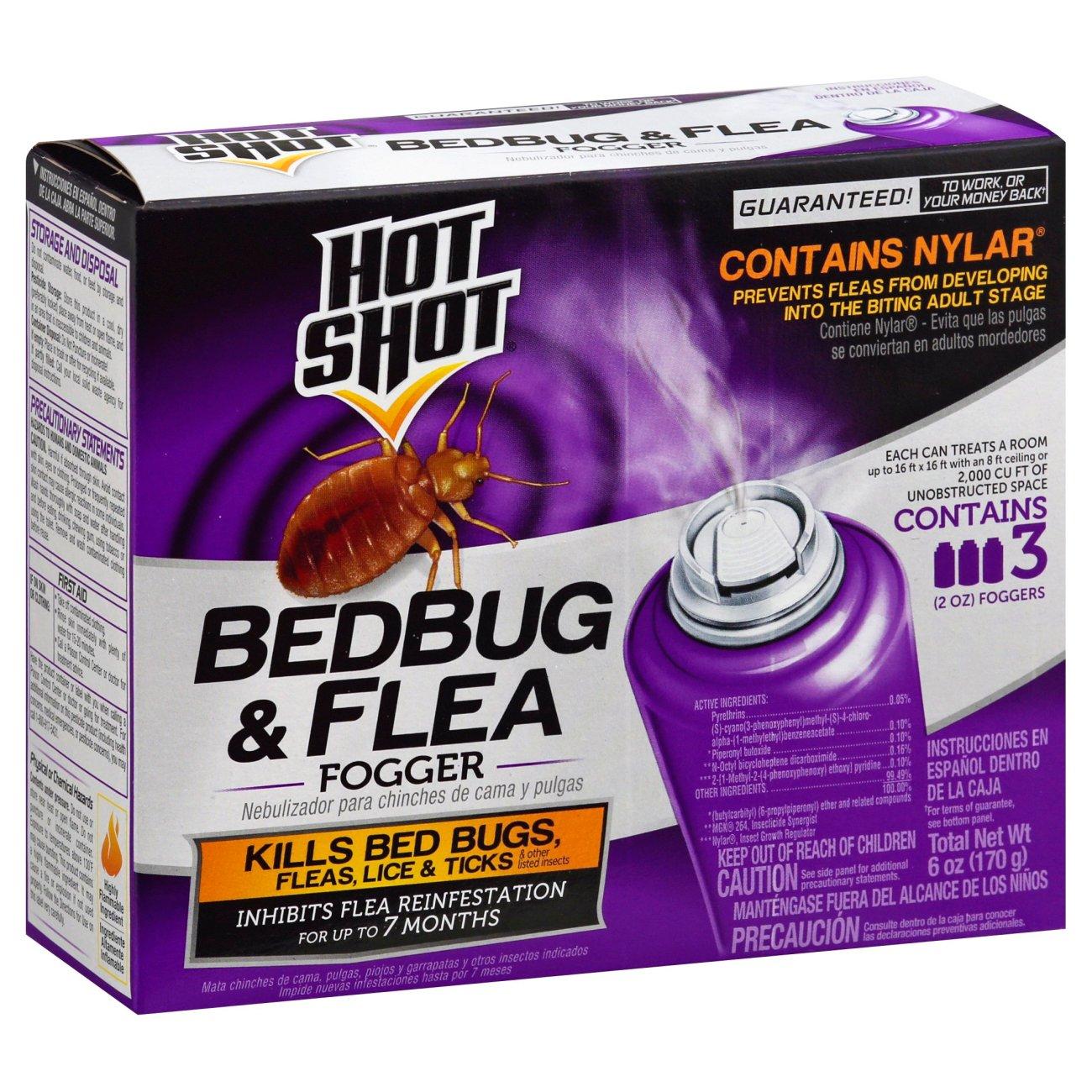 hot shot bedbug & flea fogger ‑ shop indoor at heb