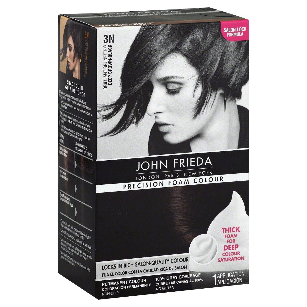 John Frieda Precision Foam Colour Deep Brown Black Permanent Colour