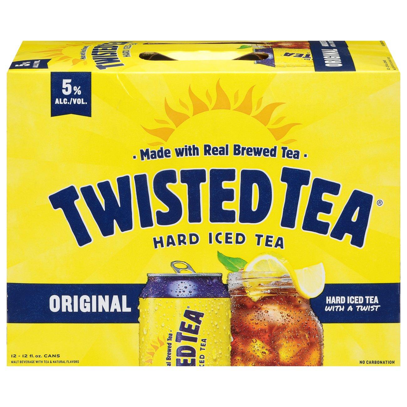 Twisted Tea Hard Iced Tea 12 oz Cans ‑ Shop Malt Beverages & Coolers at  H‑E‑B
