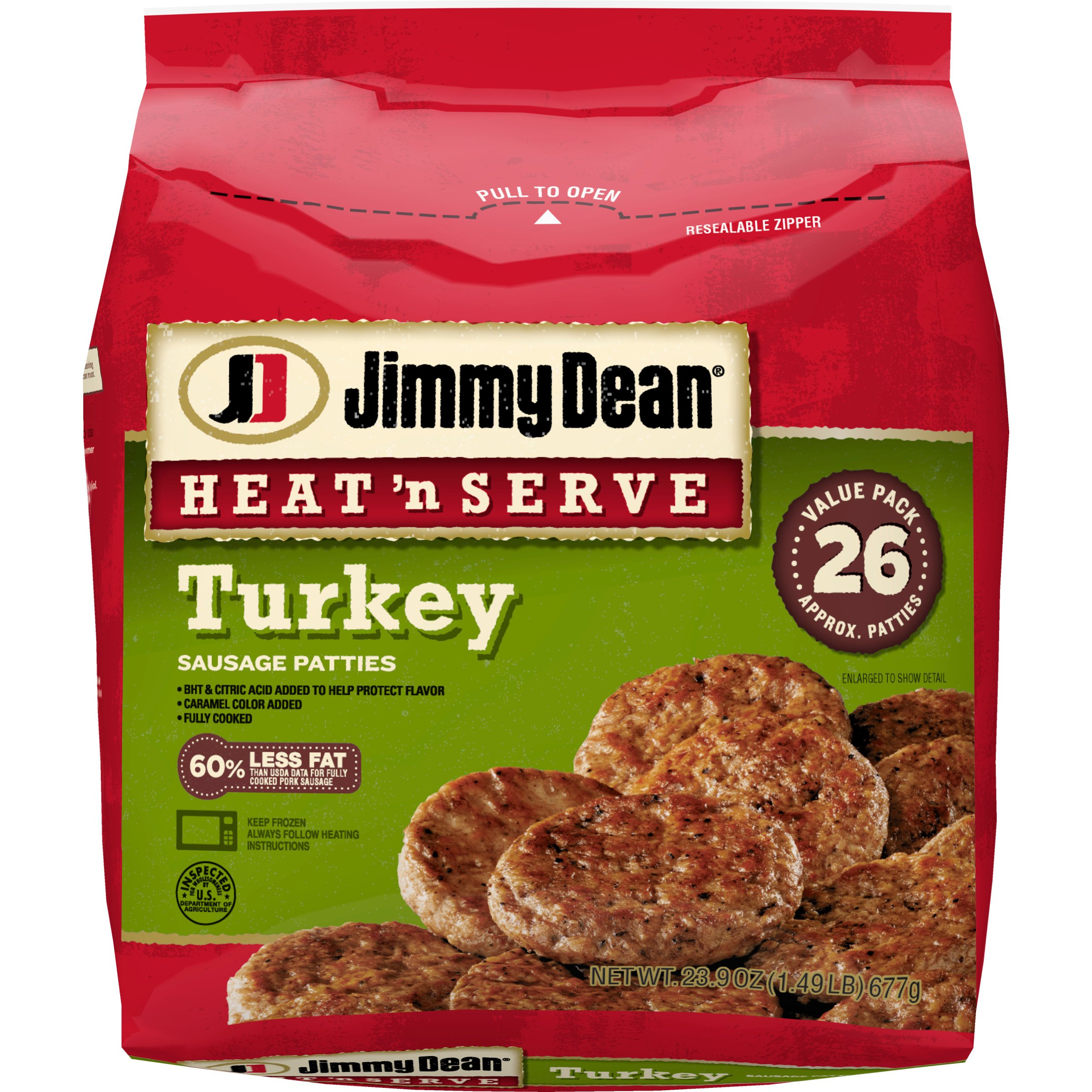 Jimmy Dean Heat 'N Serve Turkey Sausage