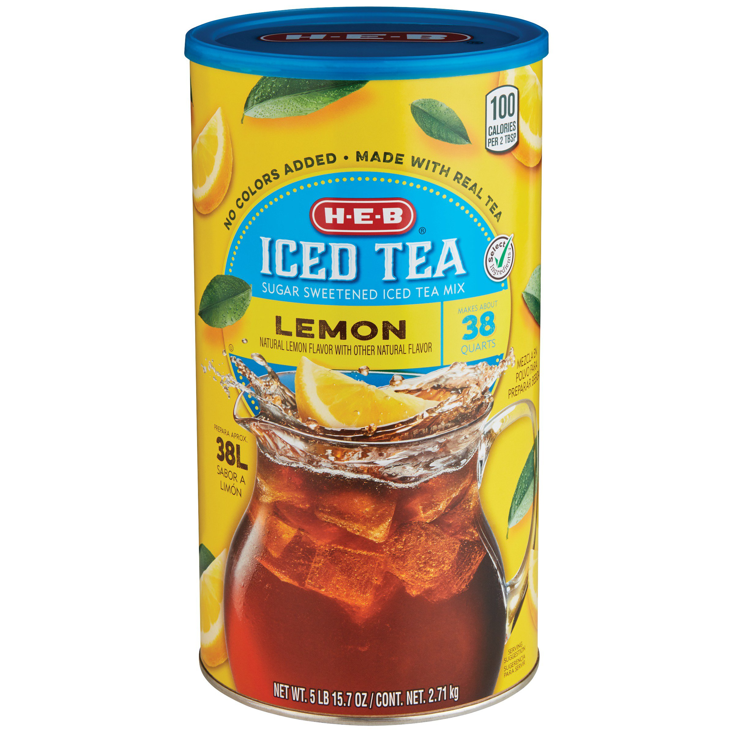 H E B Select Ingredients Lemon Sugar Sweetened Iced Tea Mix Shop Tea At H E B