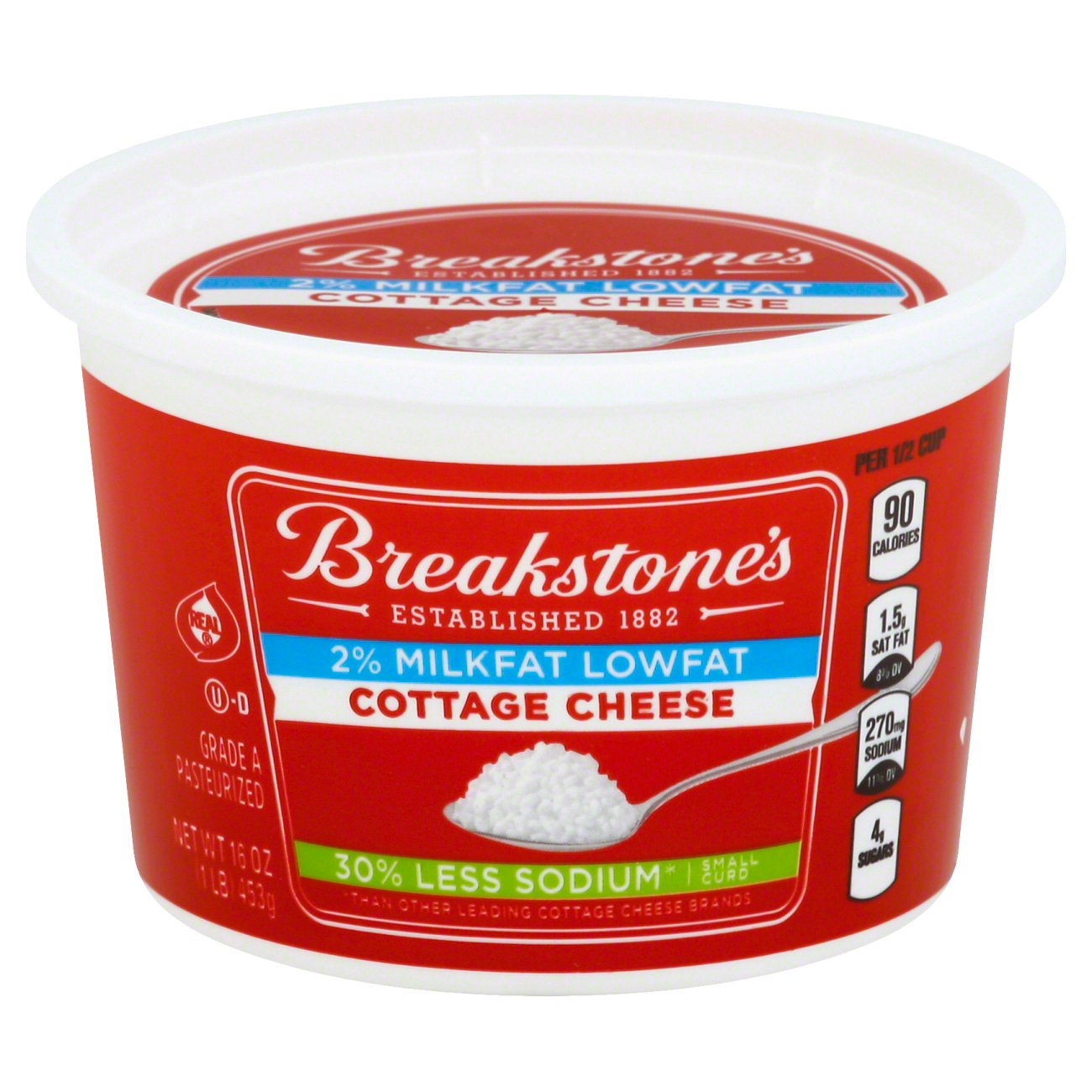 breakstone s 2 milkfat lowfat small curd cottage cheese u2011 shop rh heb com Cheese Corn Cheese Corn