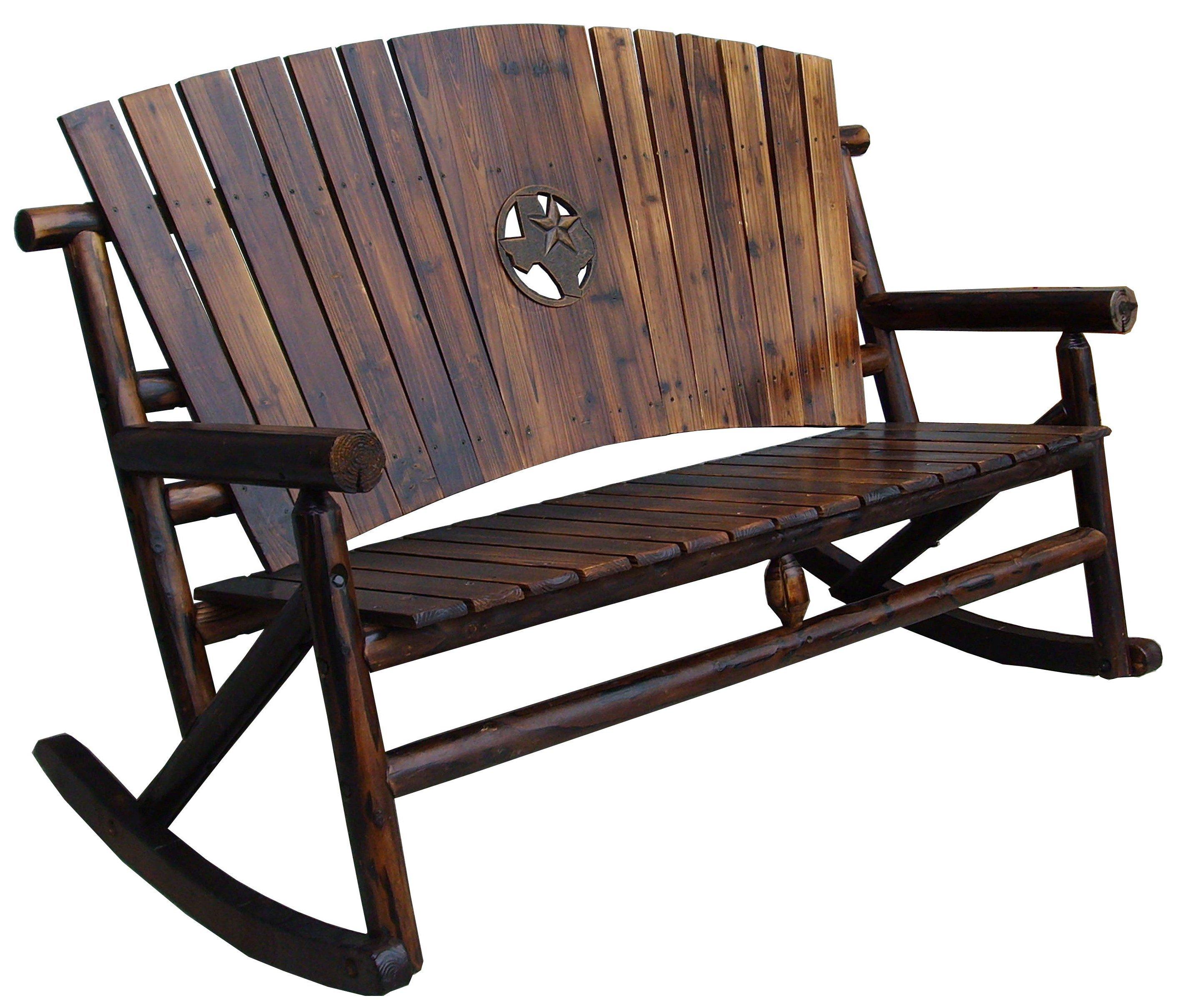 Char Log Texas Map Medallion Family Rocker   Shop Furniture At HEB