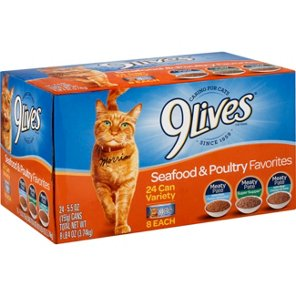 9Lives Seafood Poultry Favorites Variety Pack Cat Food Shop At H E B