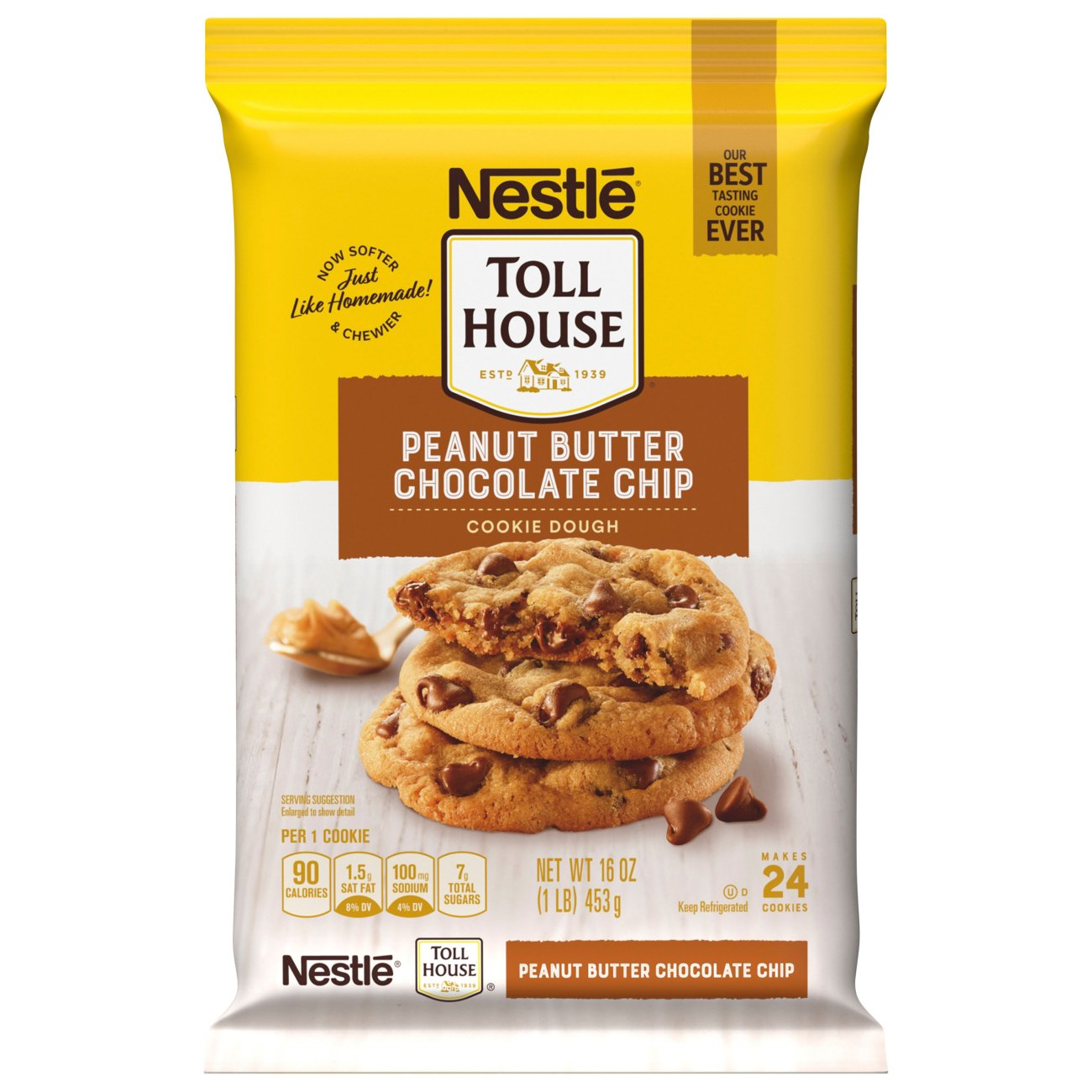 Nestle Toll House Peanut Butter Chocolate Chip Cookie Dough Shop Biscuit Cookie Dough At H E B