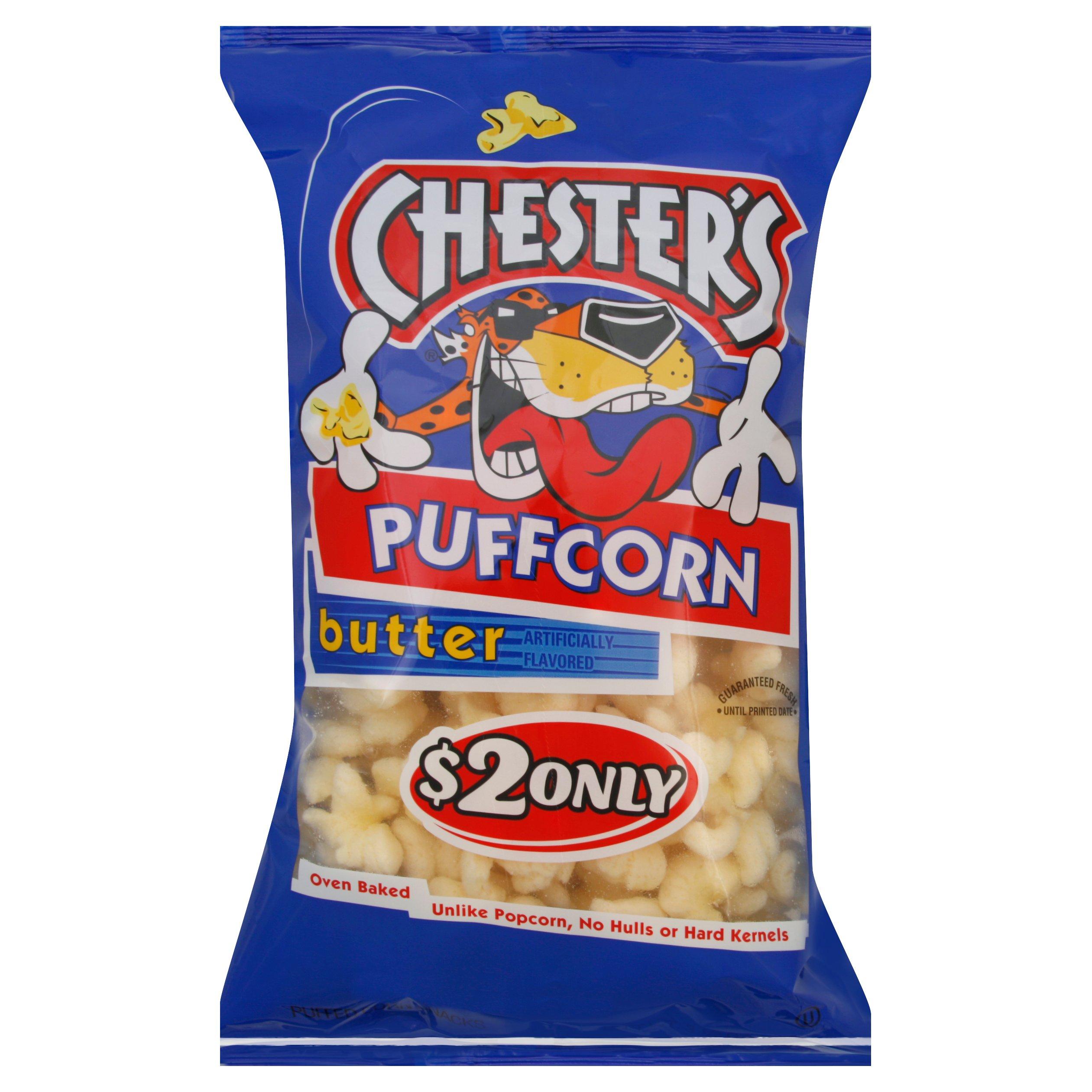 Chester S Butter Puffcorn Shop Chips At H E B
