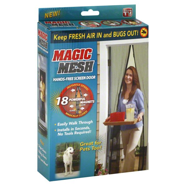 As Seen On TV Magic Mesh   Magnetic Screen Door Cover   Shop As Seen On TV  At HEB
