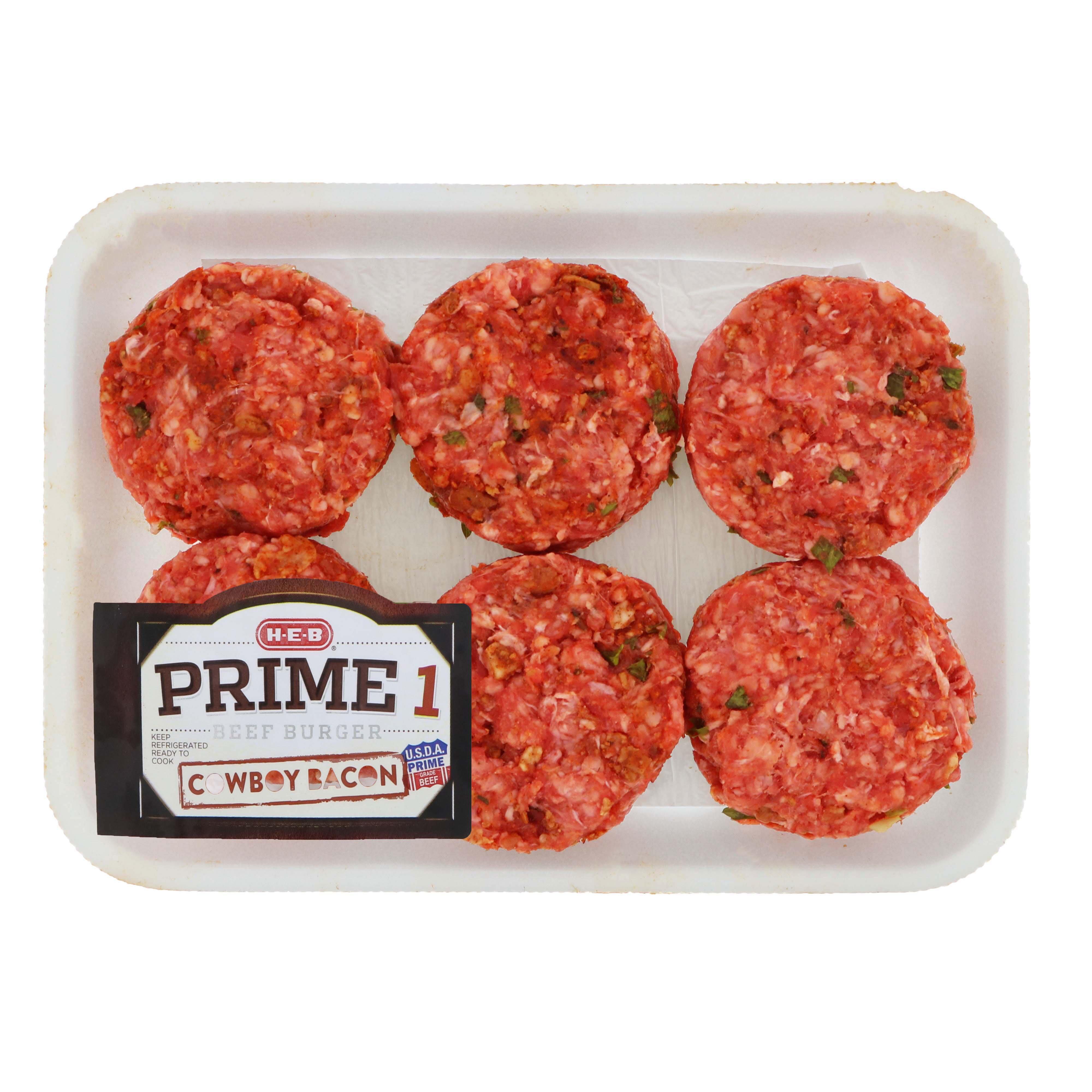 H E B Prime 1 Cowboy Beef Sliders