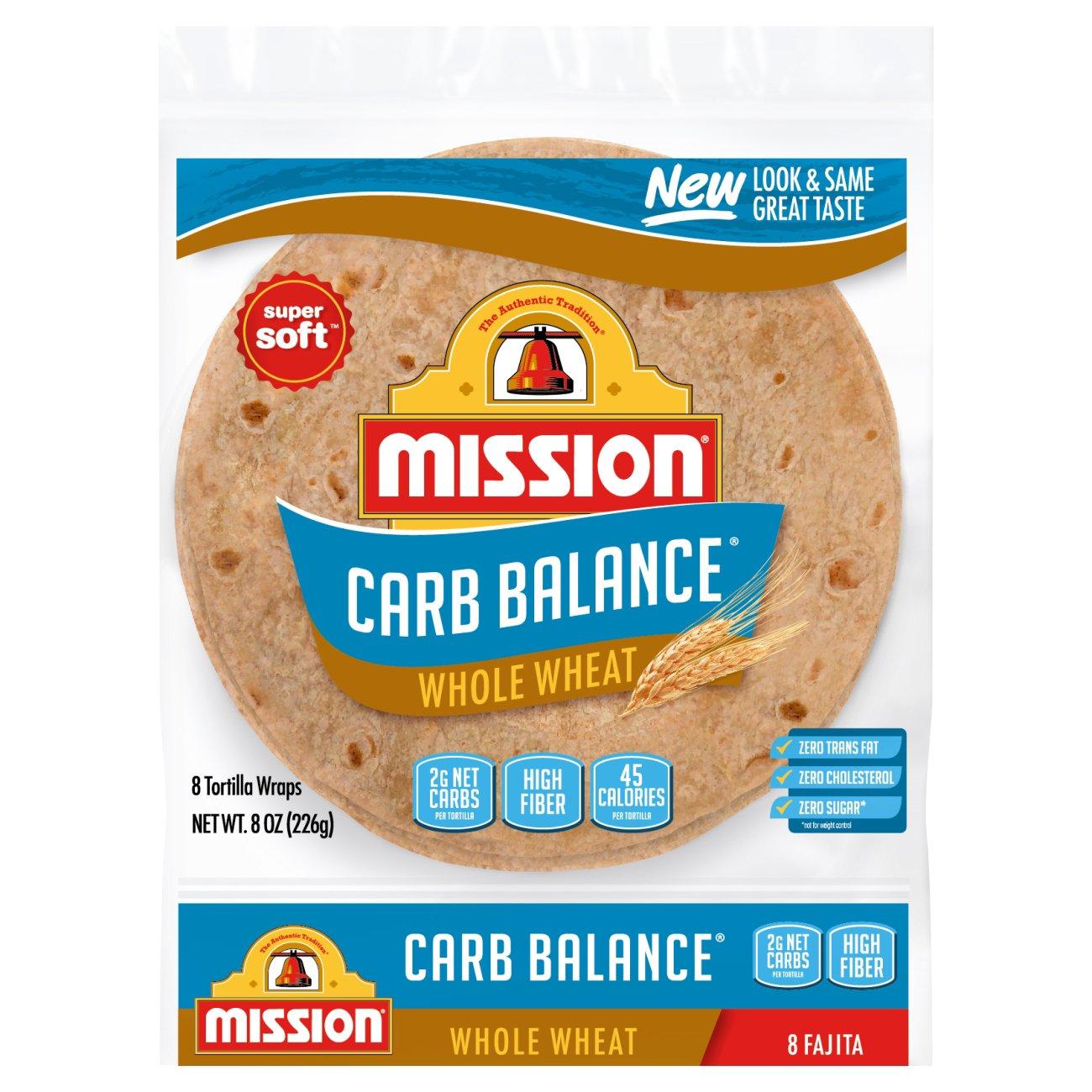 Mission Carb Balance Small Fajita Whole Wheat Tortillas Shop Tortillas At Heb