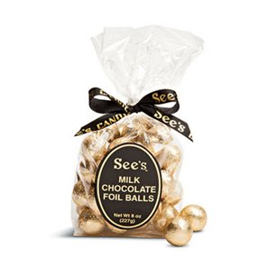 Sees Candies Milk Chocolate Foil Balls ‑ Shop Candy at HEB