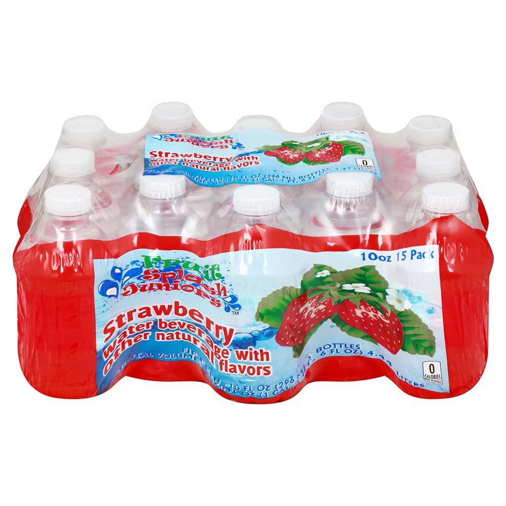 Fruit splash classic - Fruit Splash Juniors Strawberry Water Beverage 15 Pk Bottles