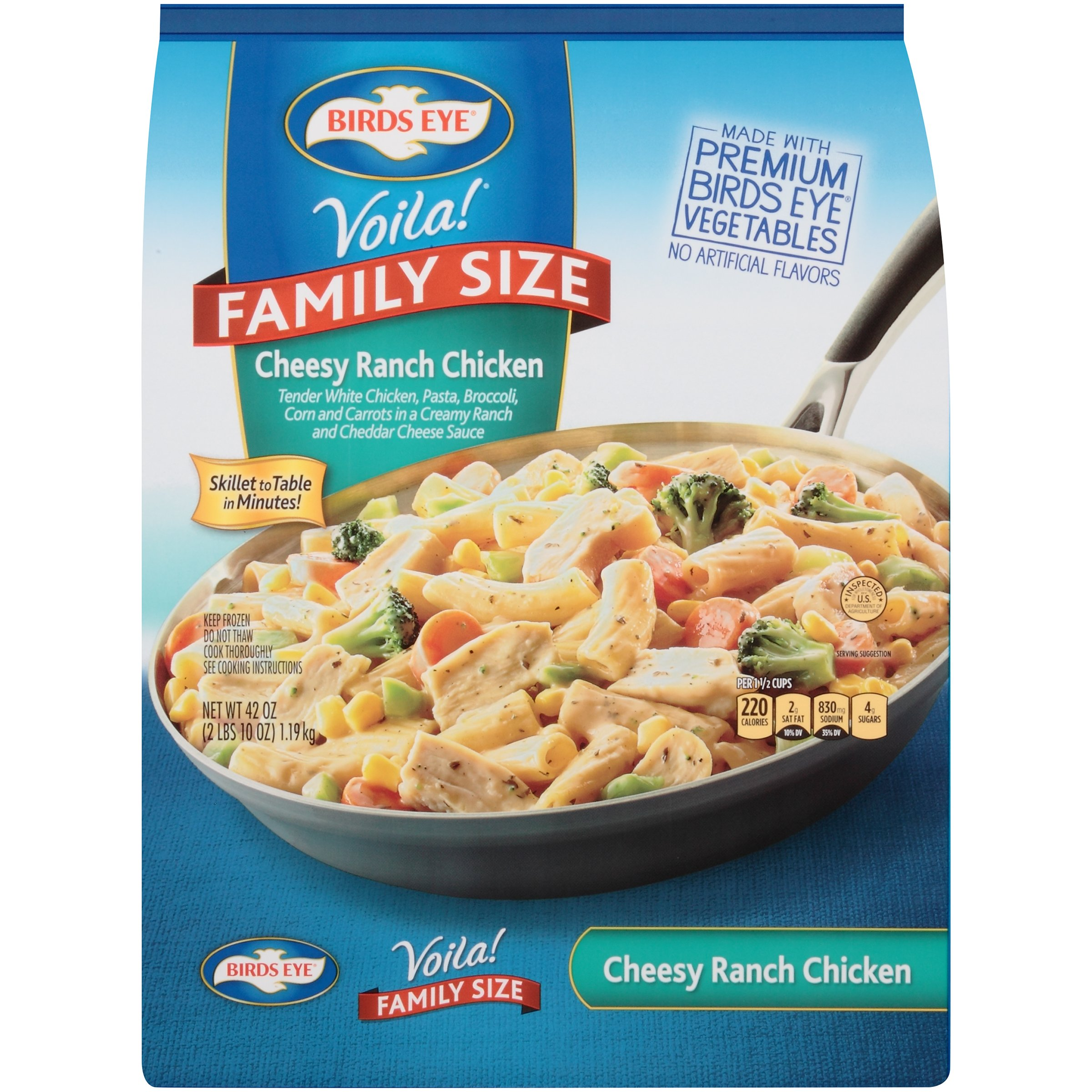 Birds Eye Voila Cheesy Ranch Chicken Family Size Shop Entrees Sides At H E B