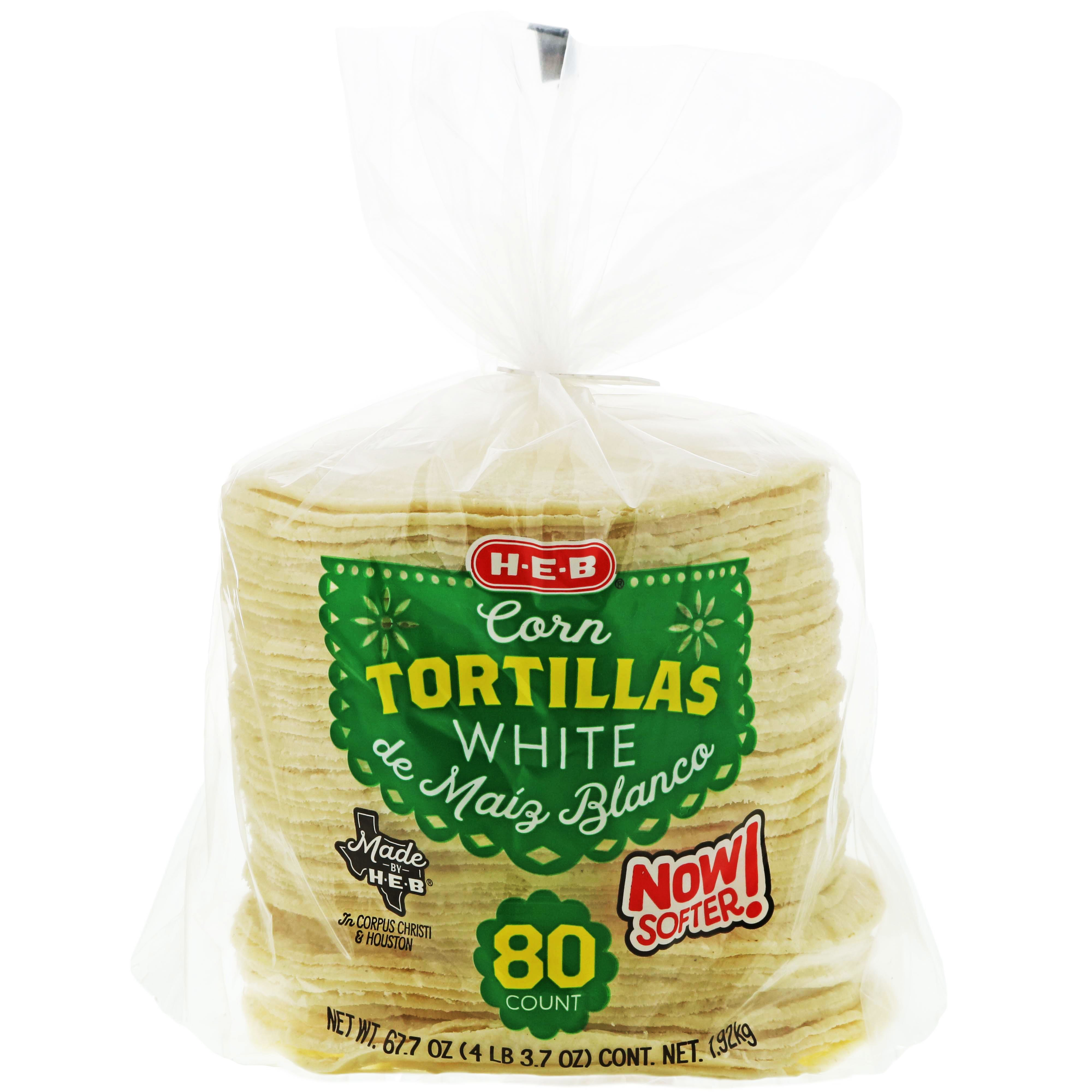 H E B White Corn Tortillas Shop Tortillas At H E B