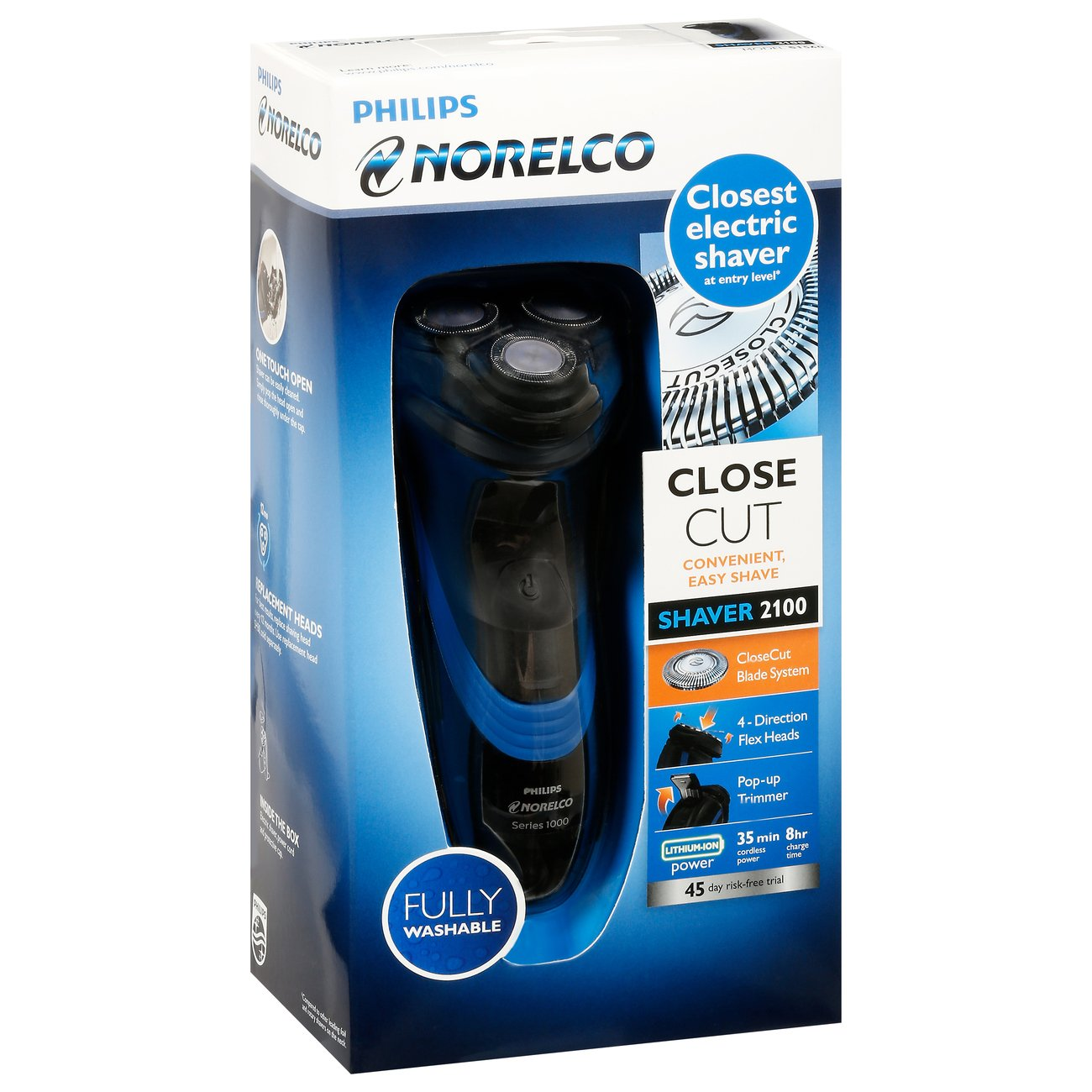 Hair shaver clippers razor beard trimmer - Philips Norelco Electric Rechargeable Shaver 2100