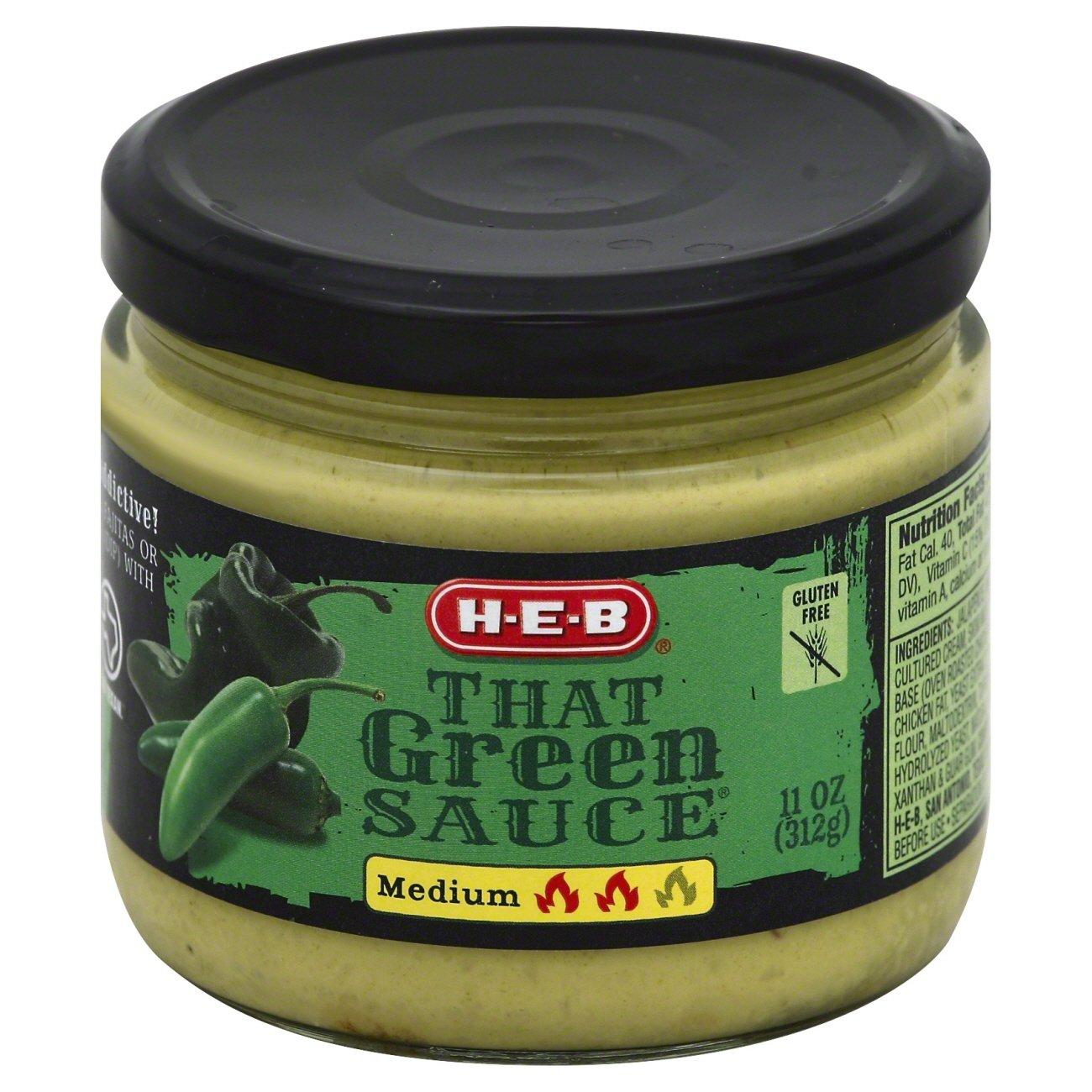 H E B That Green Sauce Medium Shop Salsa Dip At H E B